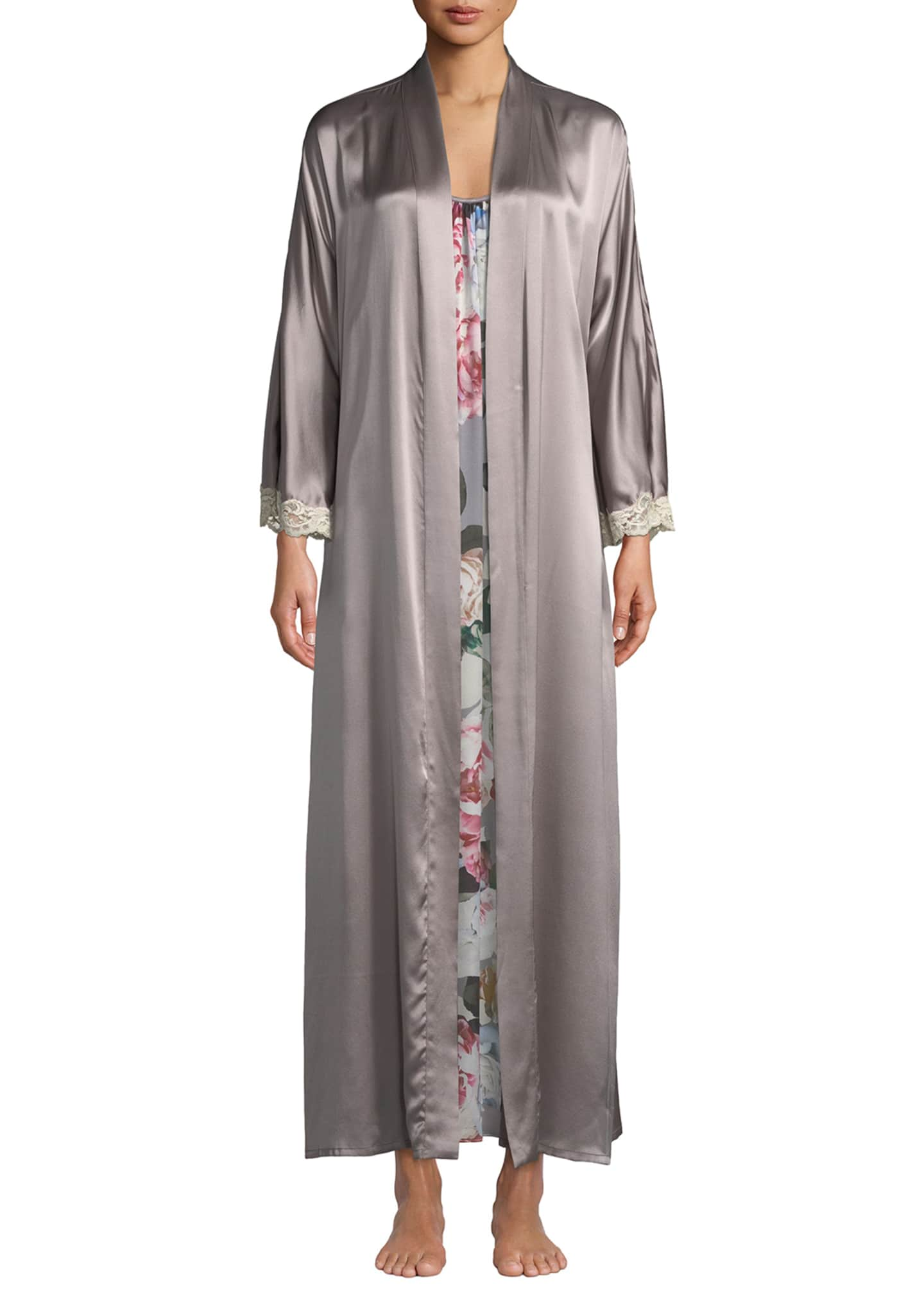 Christine Lingerie Bijoux Long Silk Robe