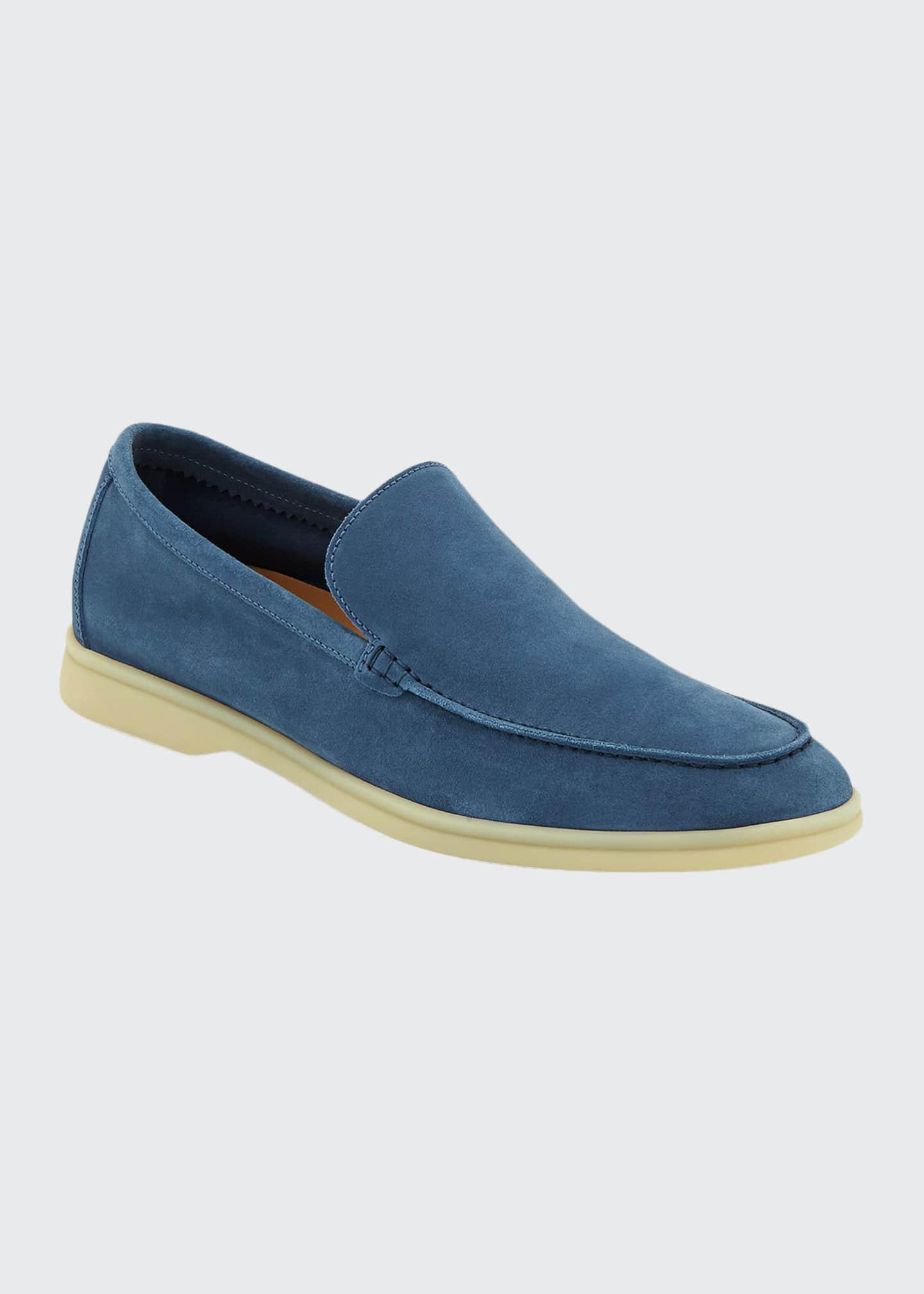 Image 1 of 3: Men's Summer Walk Suede Loafers