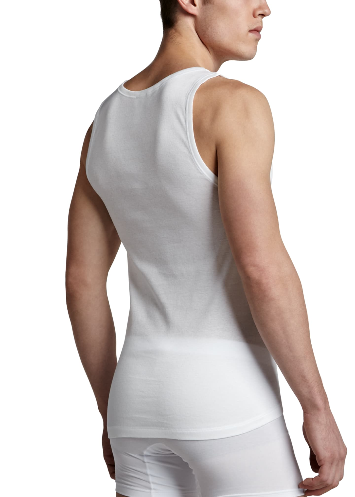 Image 2 of 2: Cotton Pure Tank Top, White