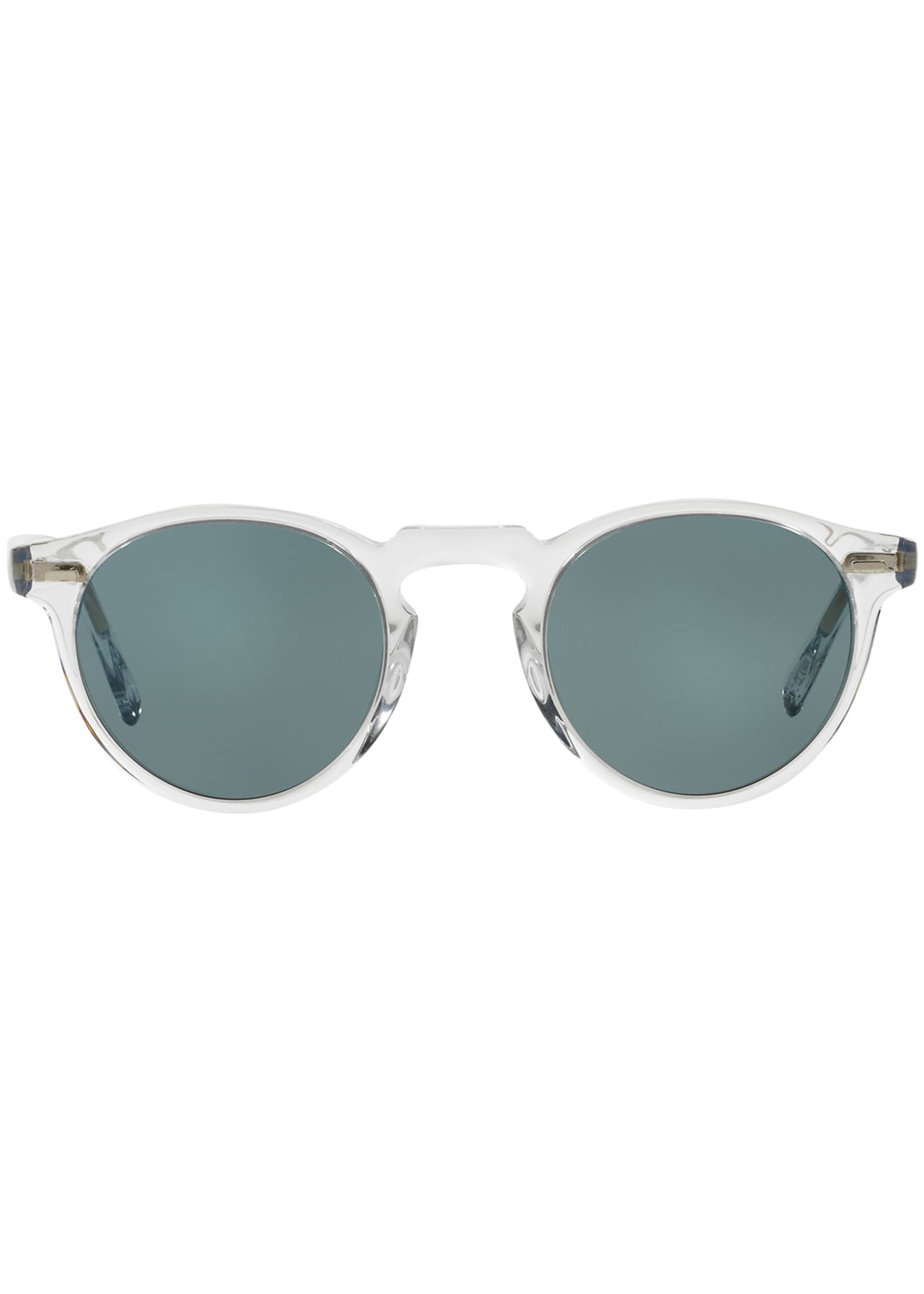 Image 2 of 2: Gregory Peck Round Acetate Sunglasses