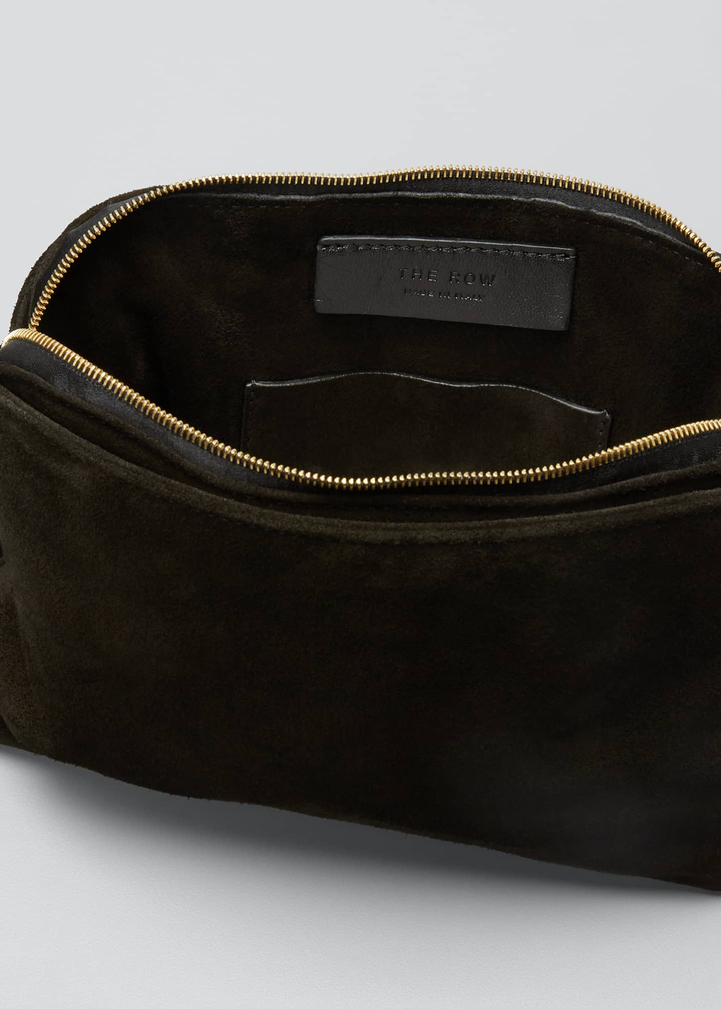 Image 4 of 5: SUEDE WRISTLET CLUTCH W/ TAS
