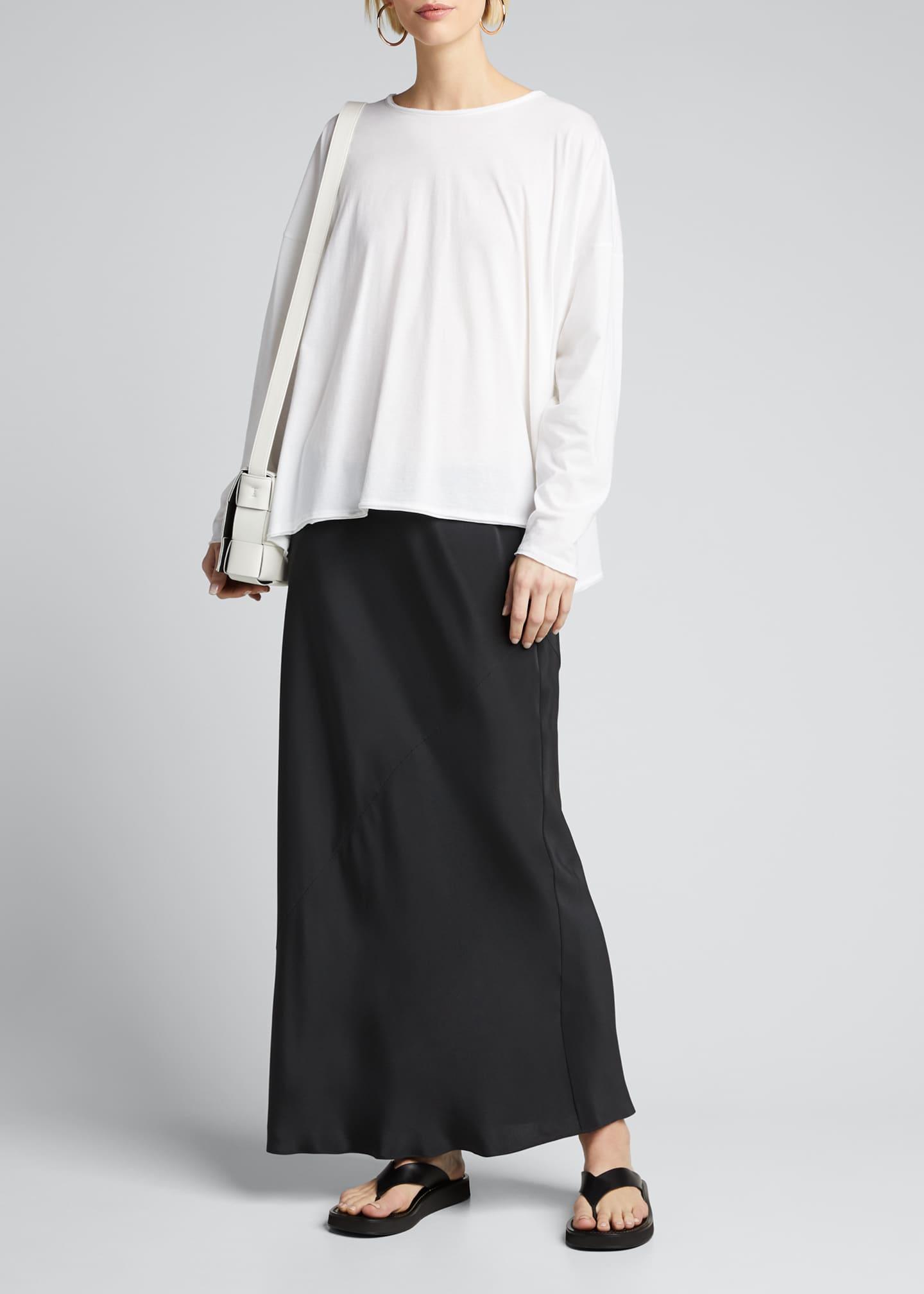 Eskandar Long-Sleeve Scoop-Neck Lightweight T-Shirt