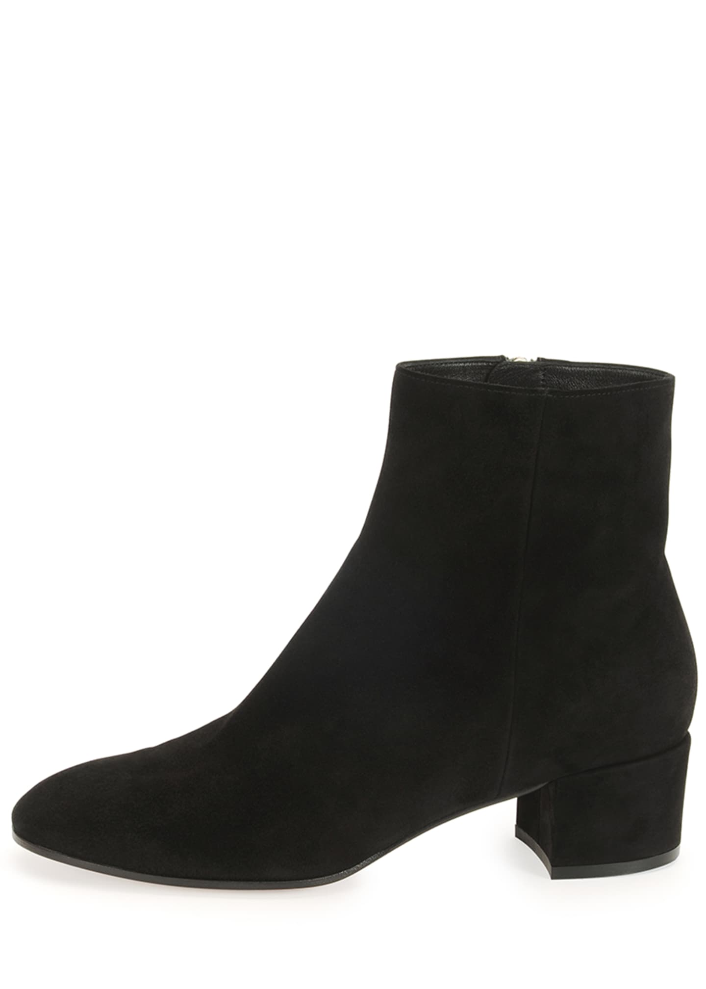 Image 5 of 5: Suede Block-Heel Ankle Boot
