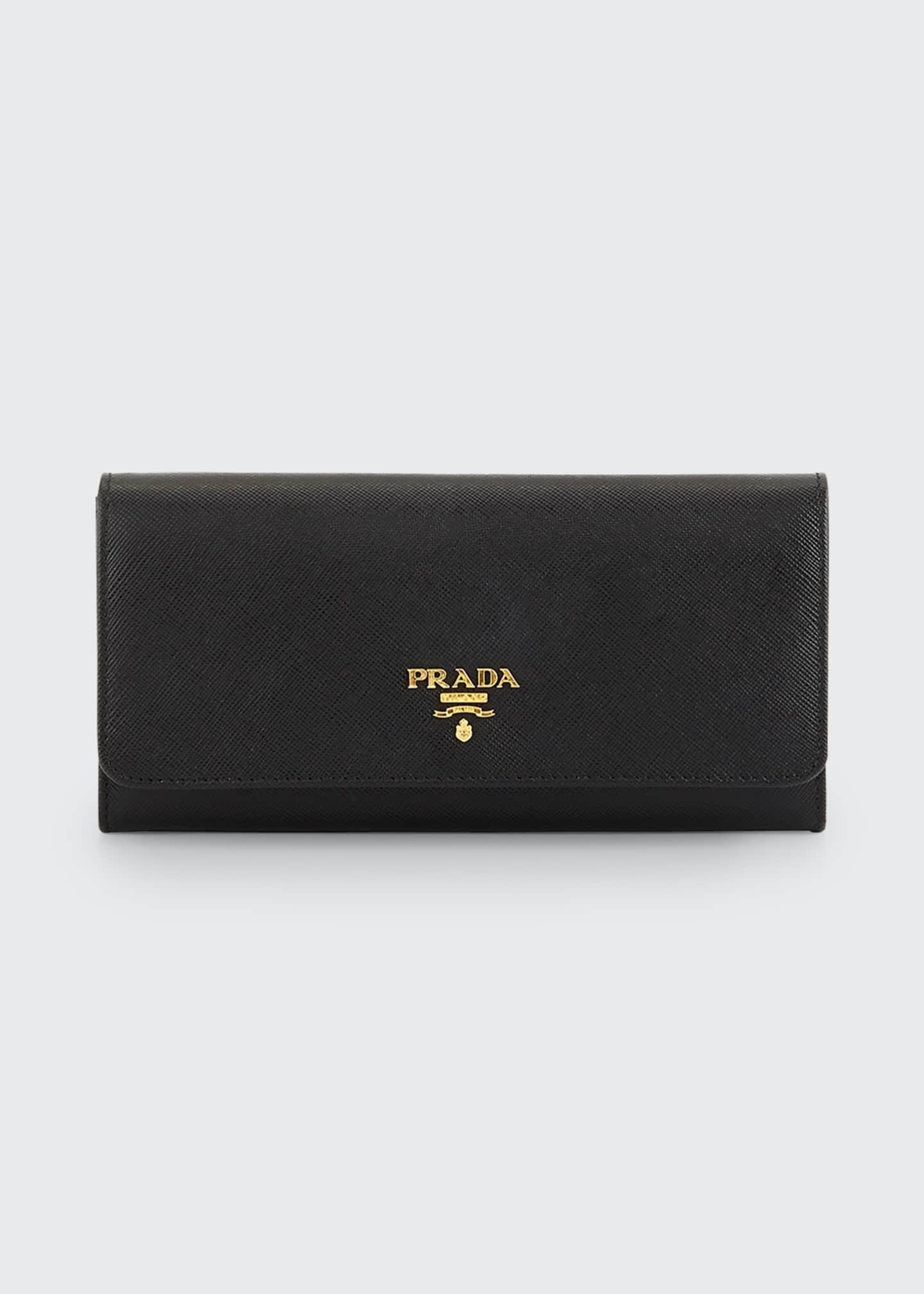 Prada Textured Leather Continental Wallet