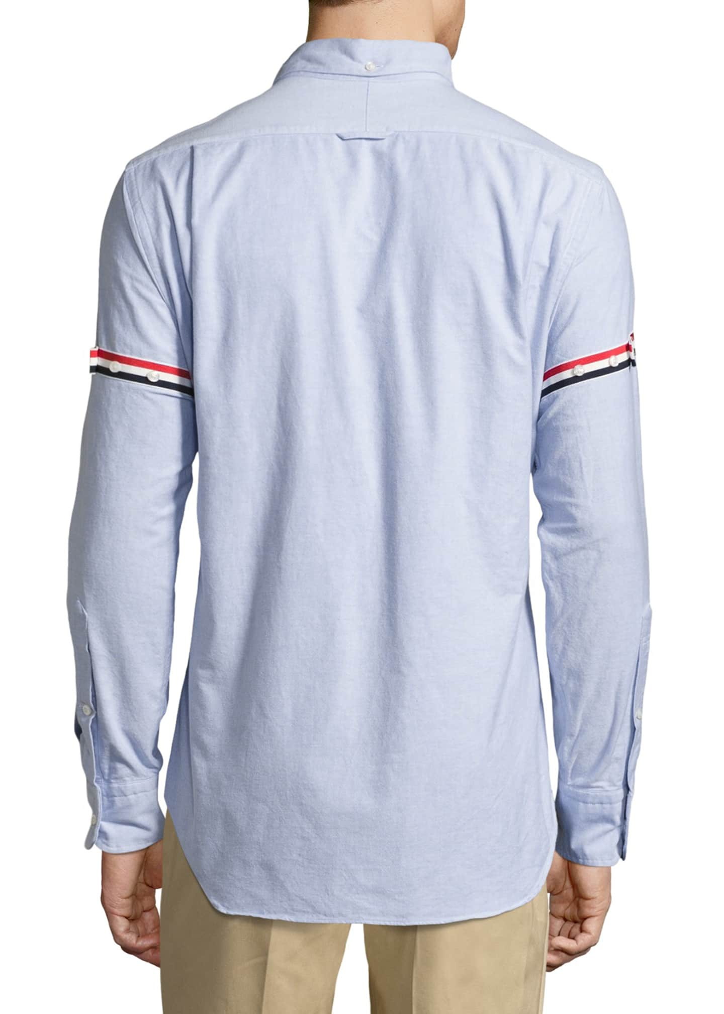 Image 2 of 3: Classic Arm-Stripe Long-Sleeve Oxford Shirt