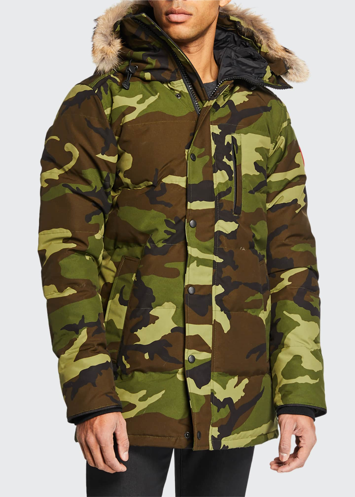 Image 1 of 2: Carson Down Parka with Fur-Trim Hood