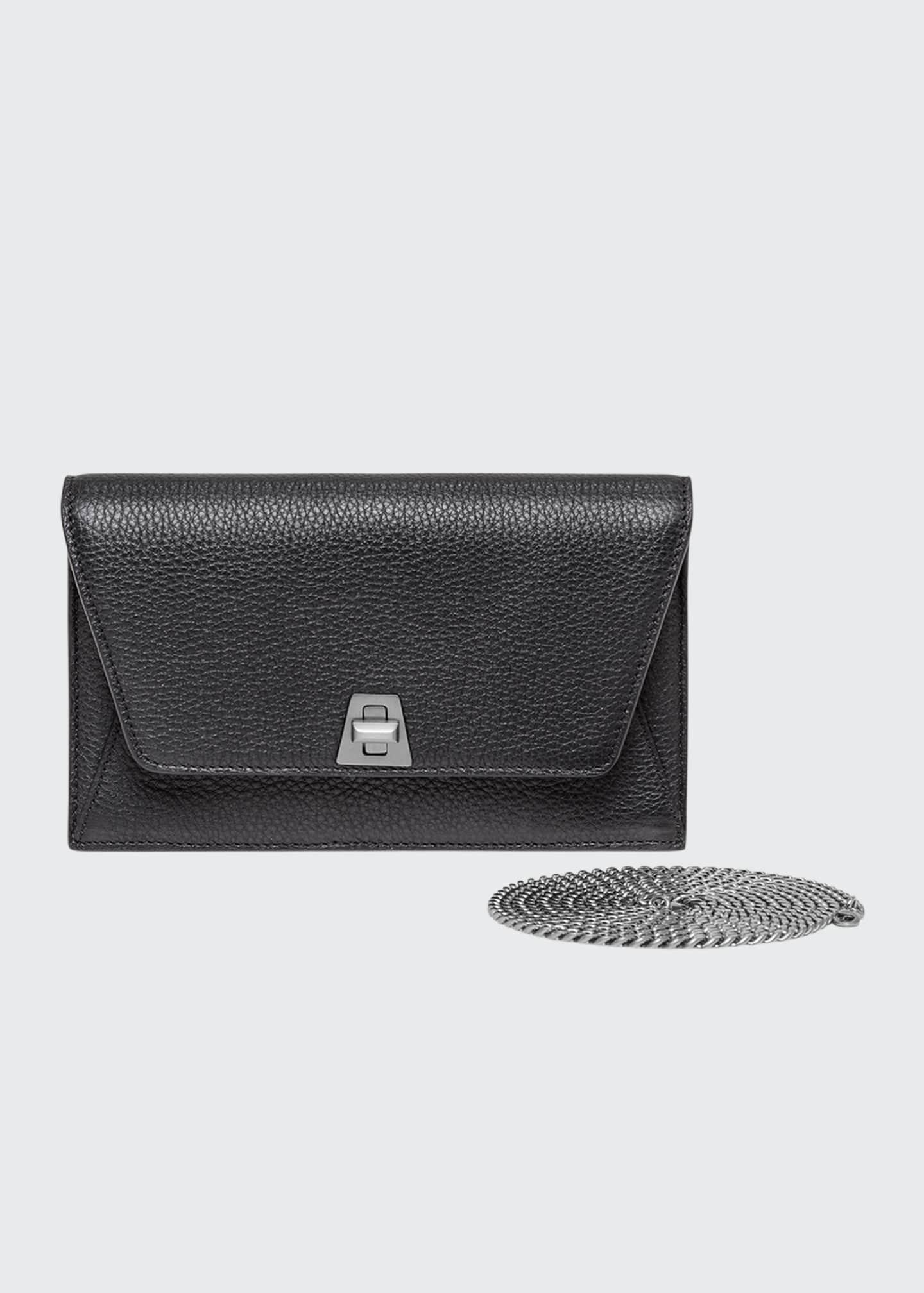 Akris Anouk Cervo Leather Clutch Bag w/Chain