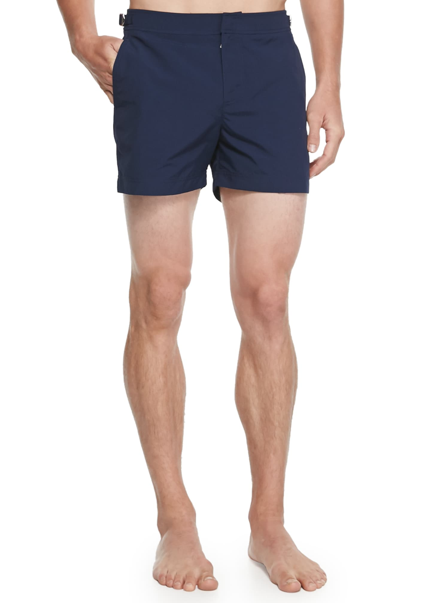 Image 1 of 2: Setter Short-Length Swim Trunks, Navy