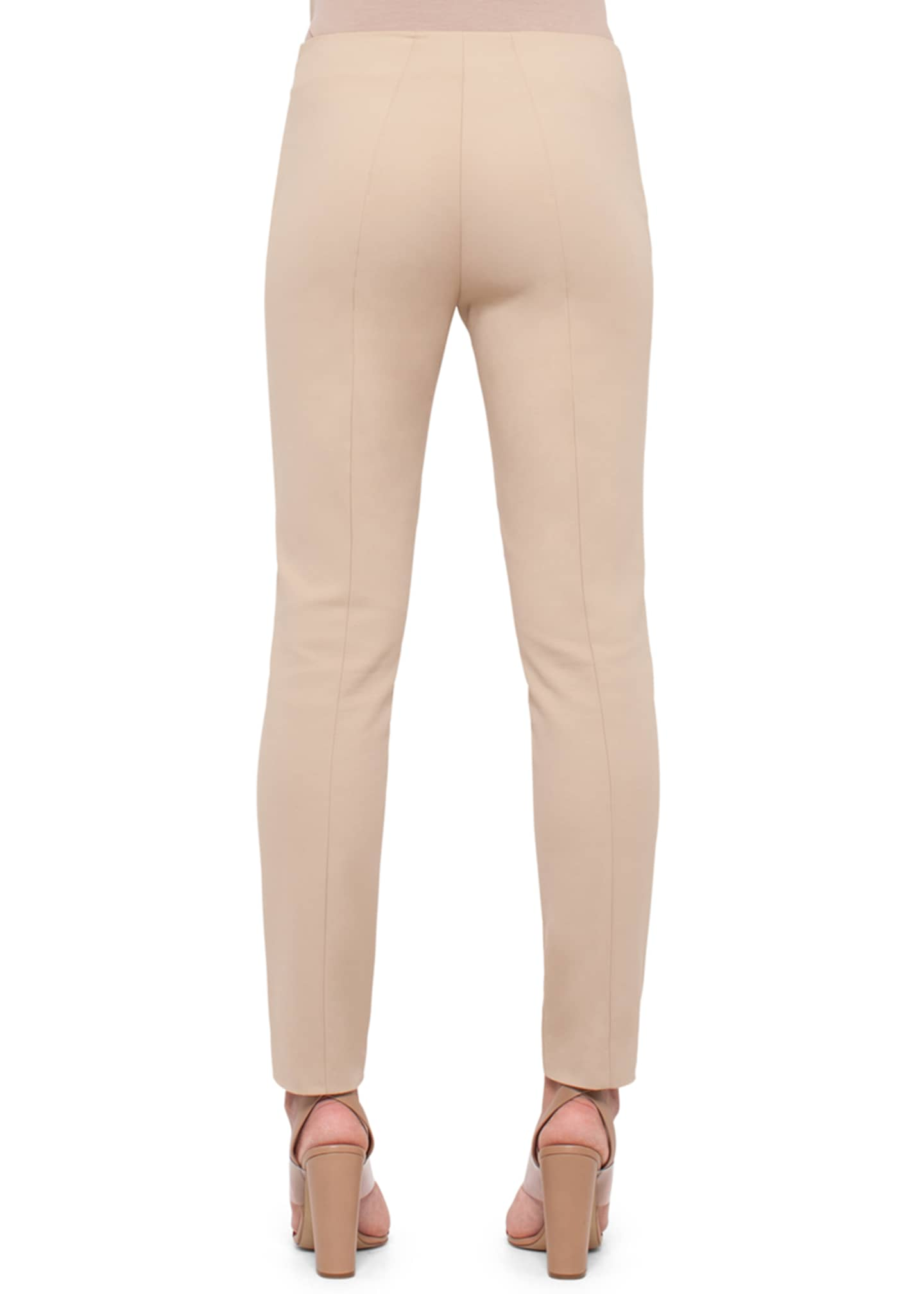 Image 2 of 2: Melissa Mid-Rise Slim-Leg Pants