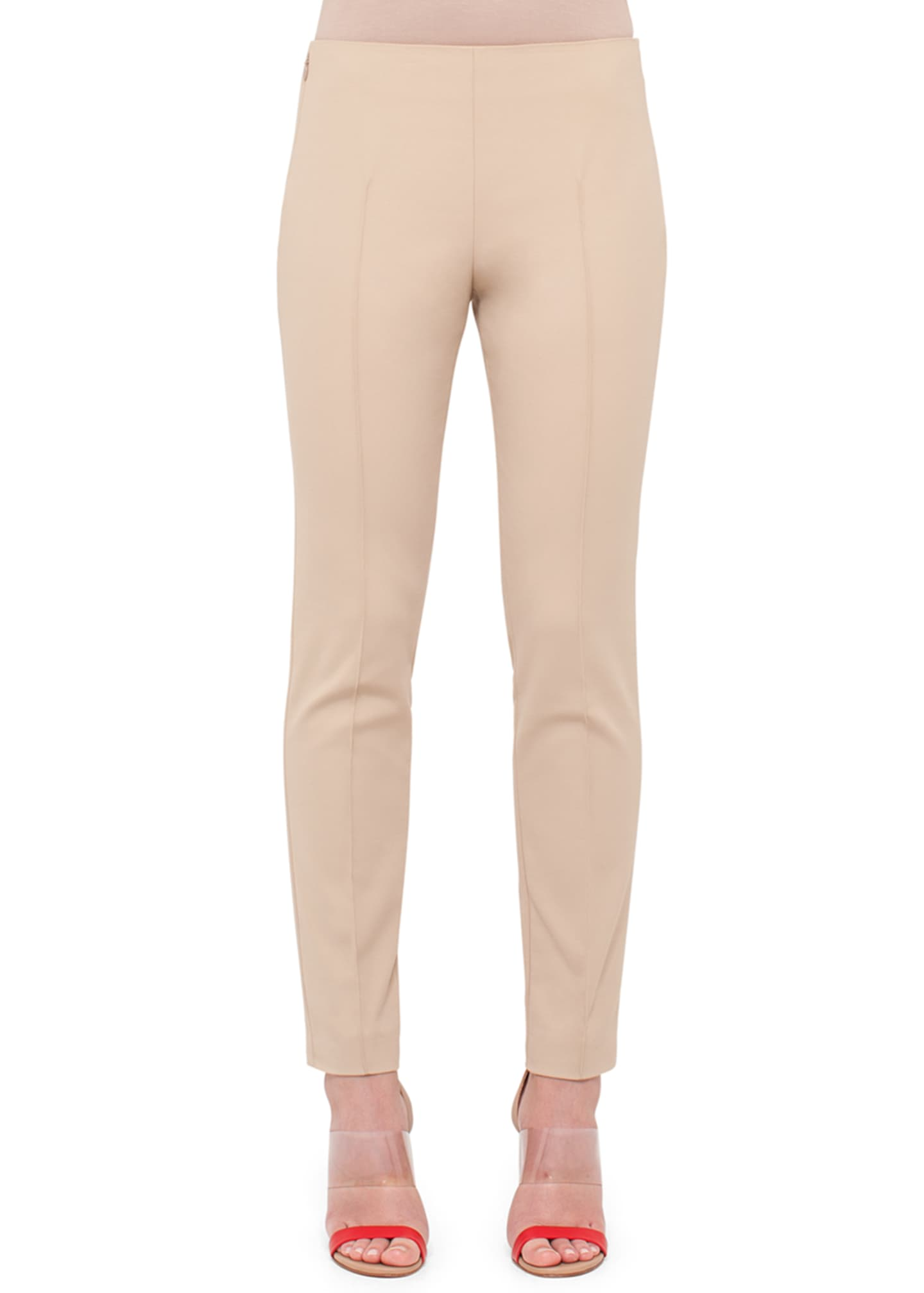 Image 1 of 2: Melissa Mid-Rise Slim-Leg Pants