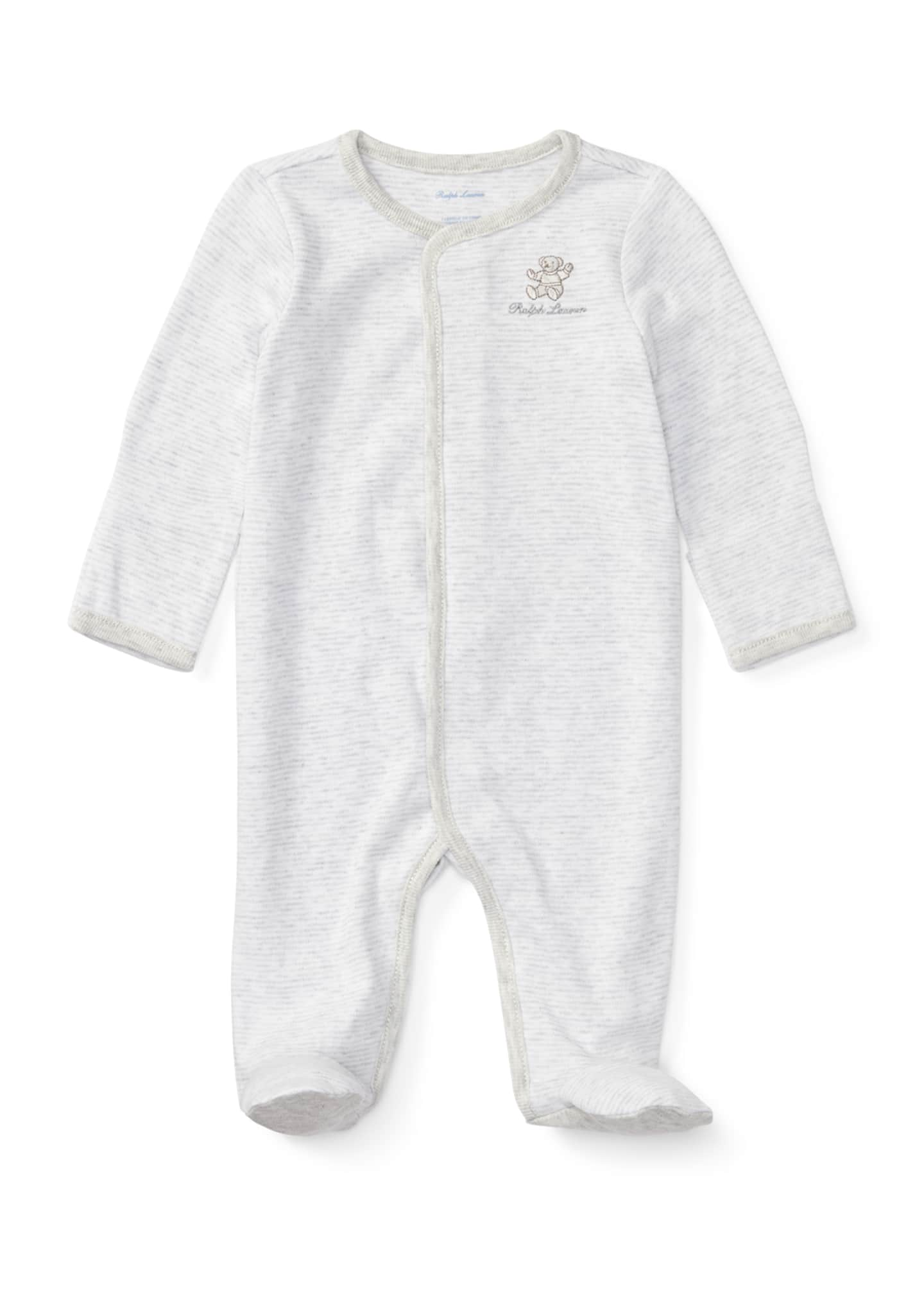 Ralph Lauren Childrenswear Bear Embroidery Stripe Interlock