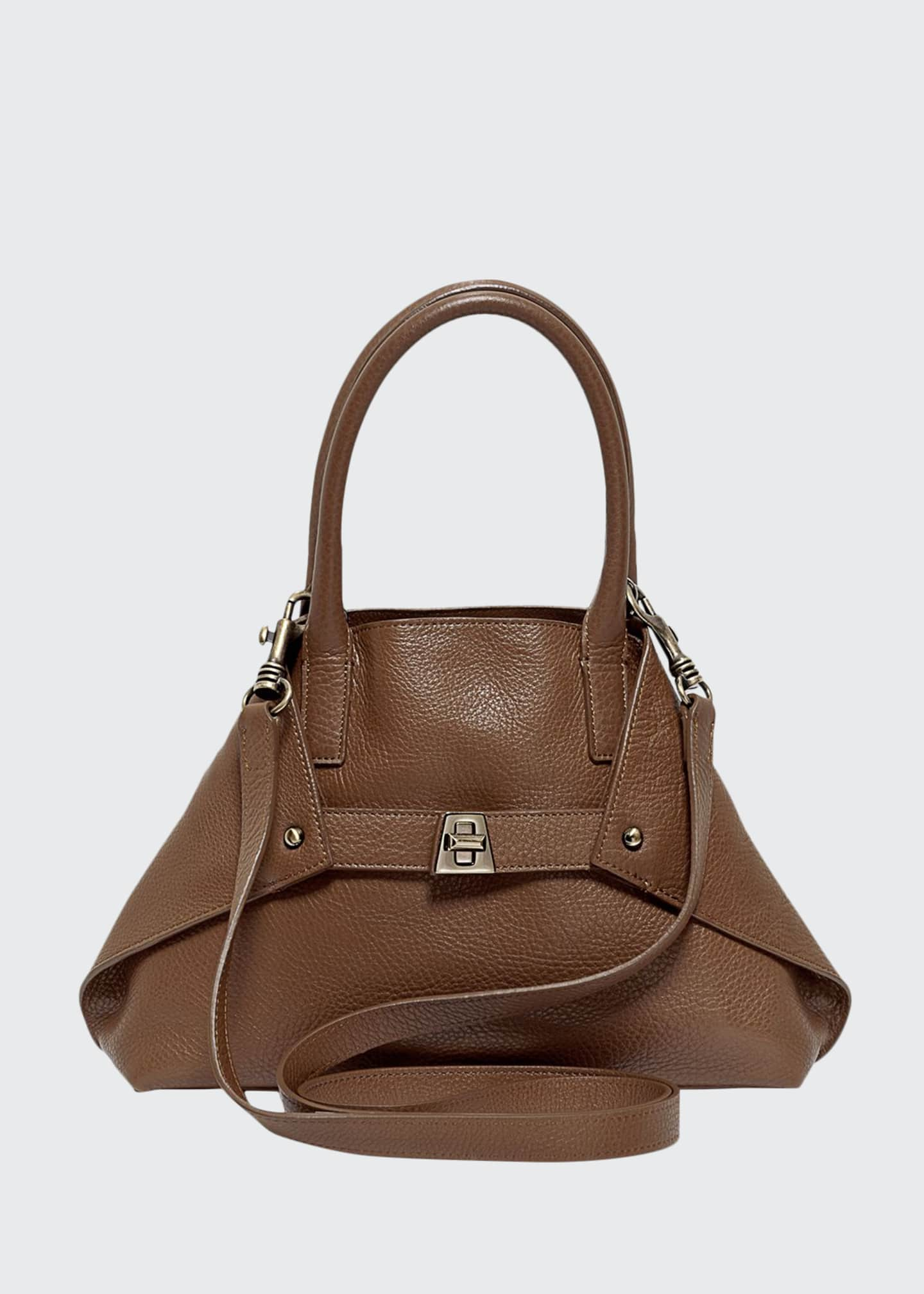 Akris Ai Cervo Extra-Small Messenger Bag, Brown