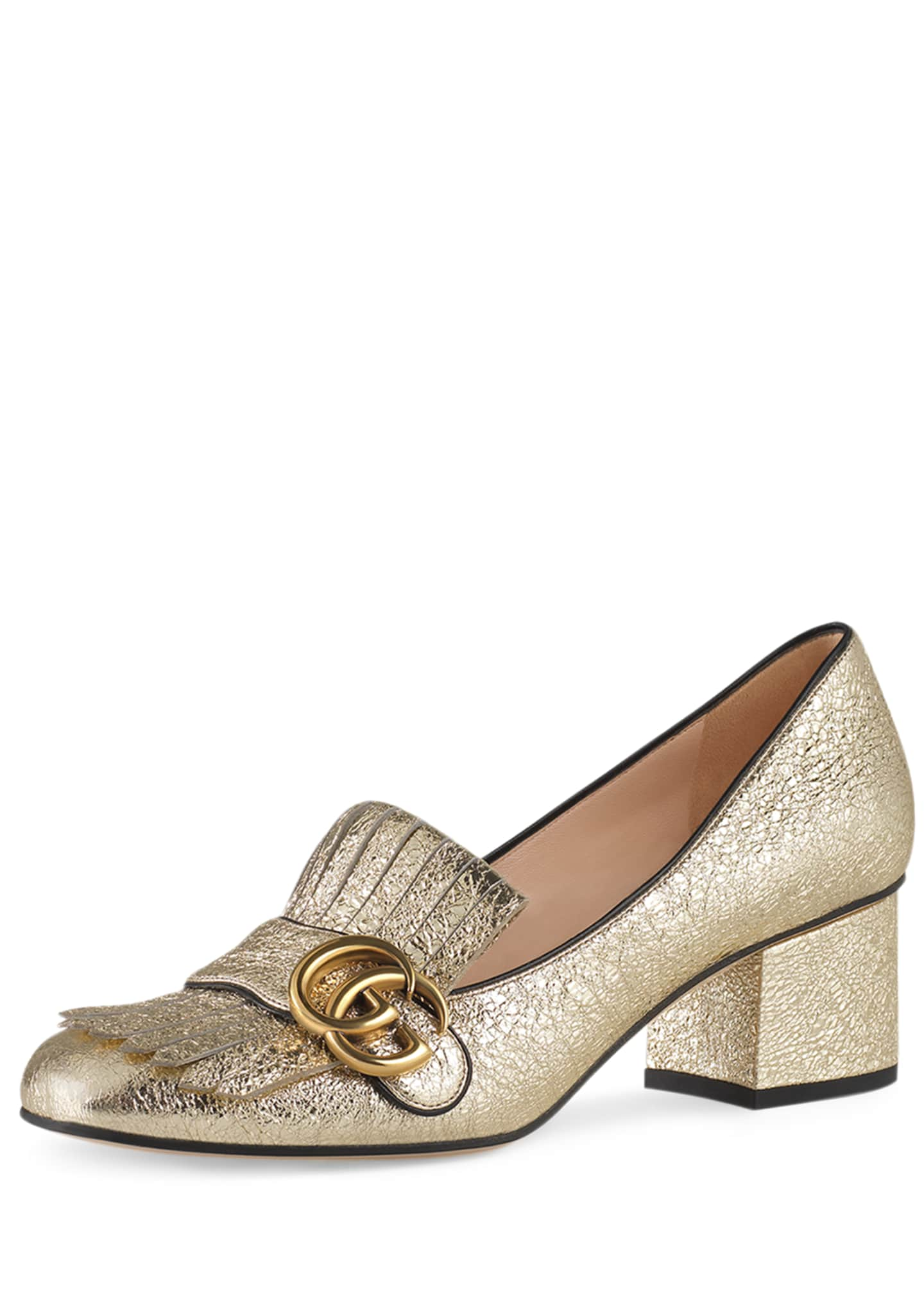 Gucci 55mm Marmont Metallic Loafer