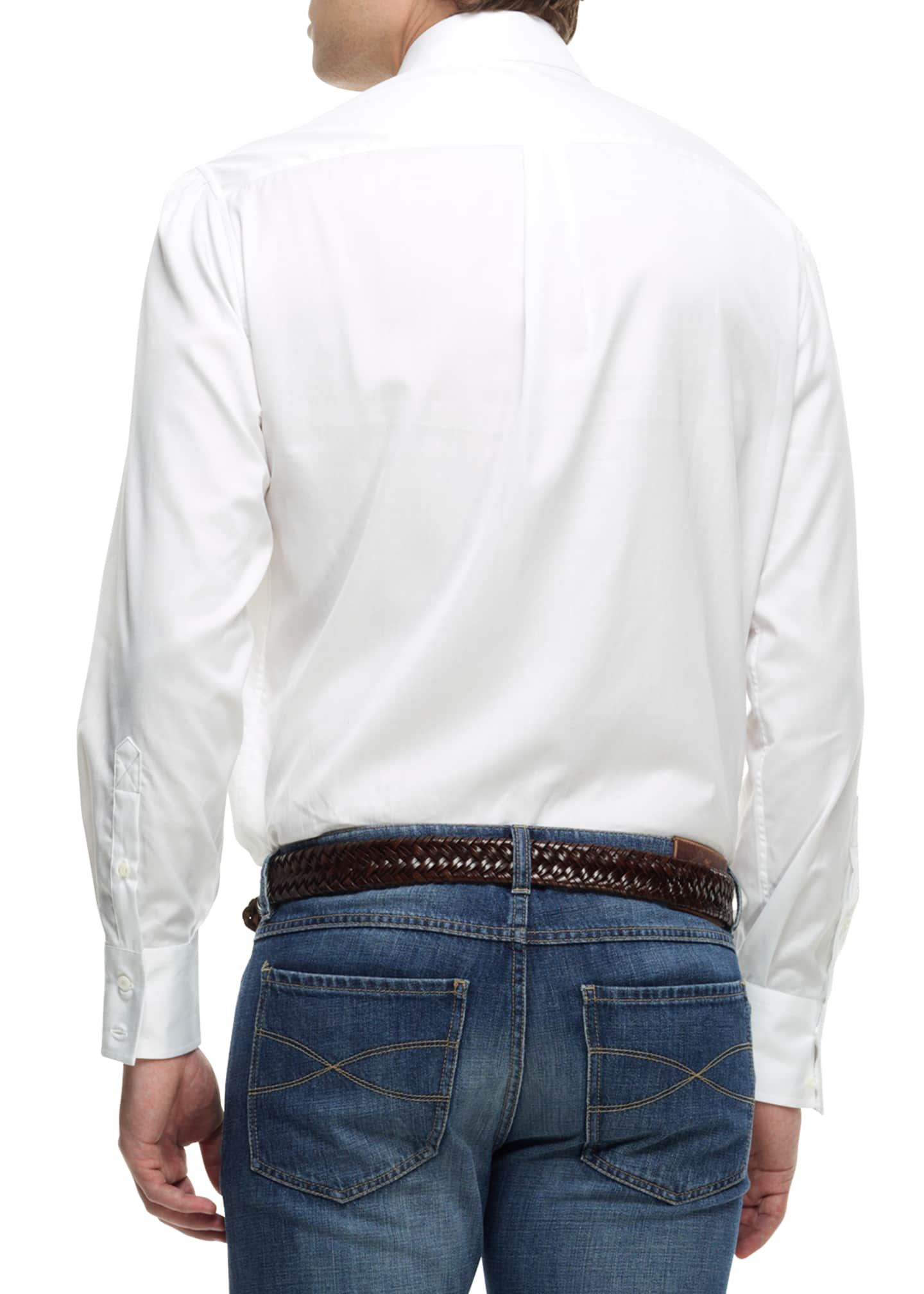 Image 2 of 2: Button-Down Shirt, White