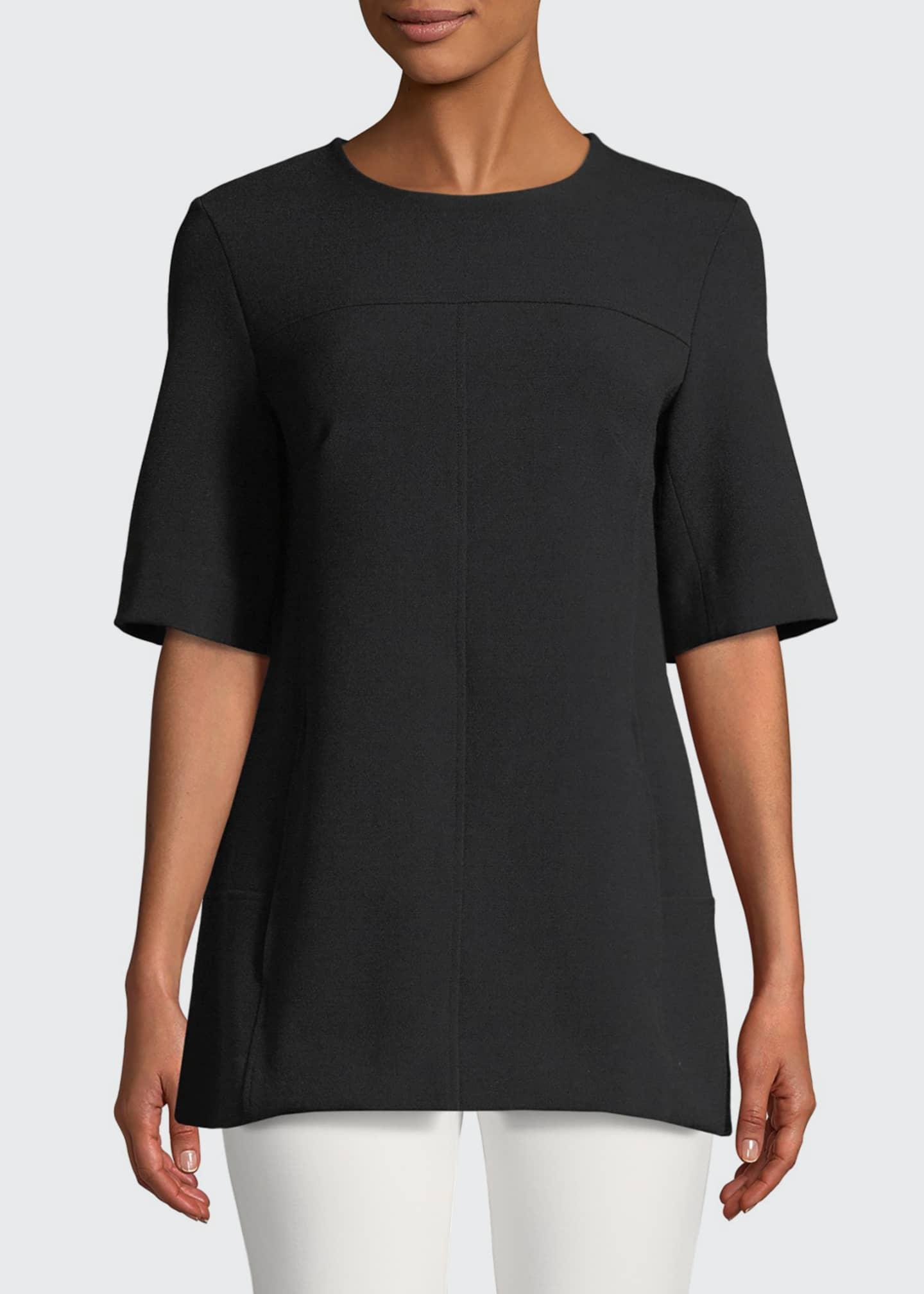 Lela Rose Short-Sleeve Tunic