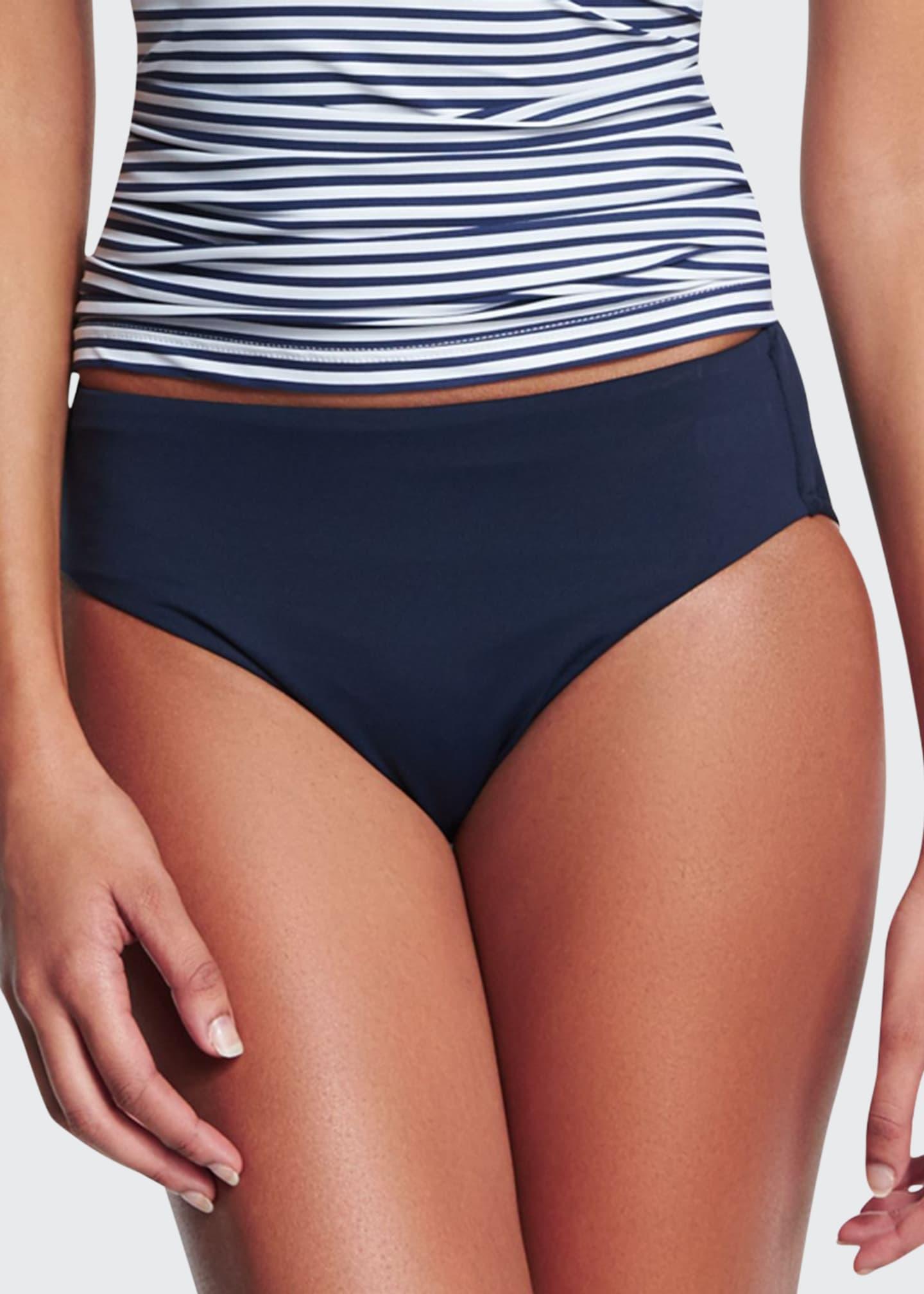 Seafolly Retro Power Swim Bikini Bottom, Indigo