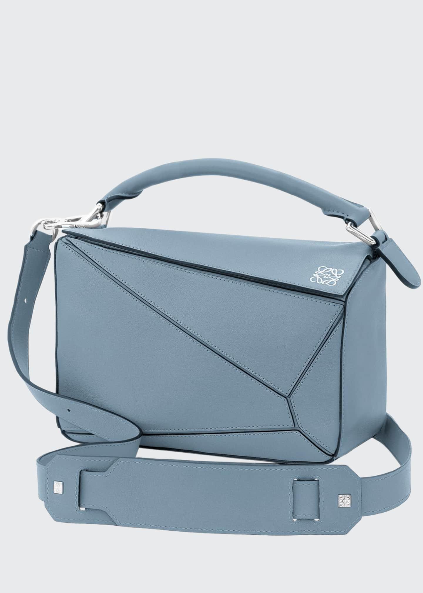 Loewe Small Calfskin Puzzle Bag, Black