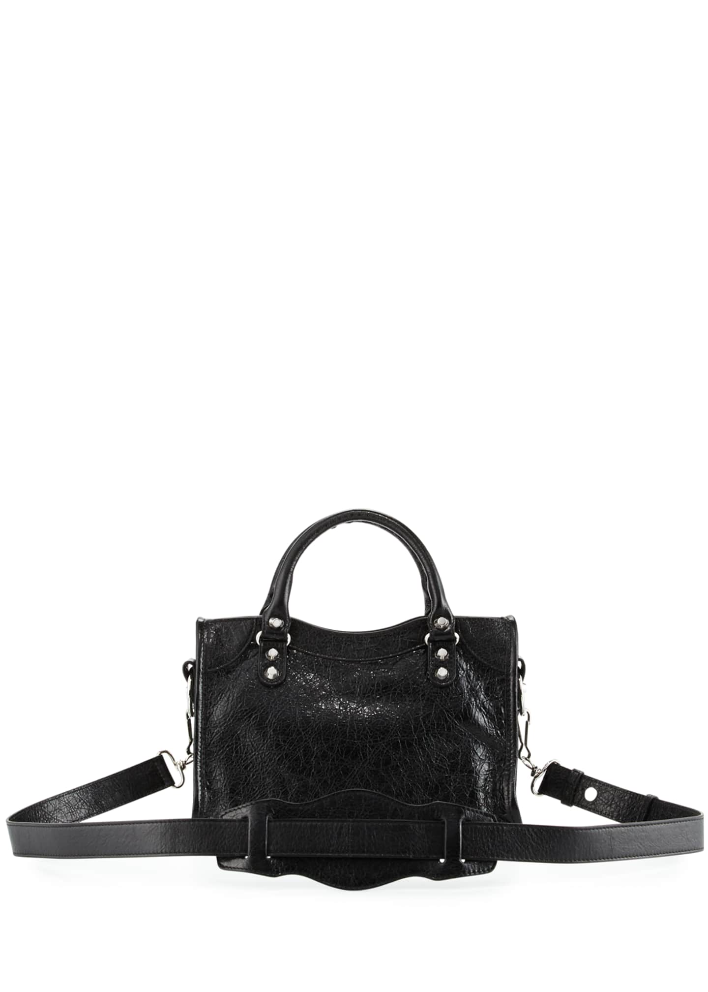 Image 2 of 2: Classic Nickel Mini City AJ Bag, Black