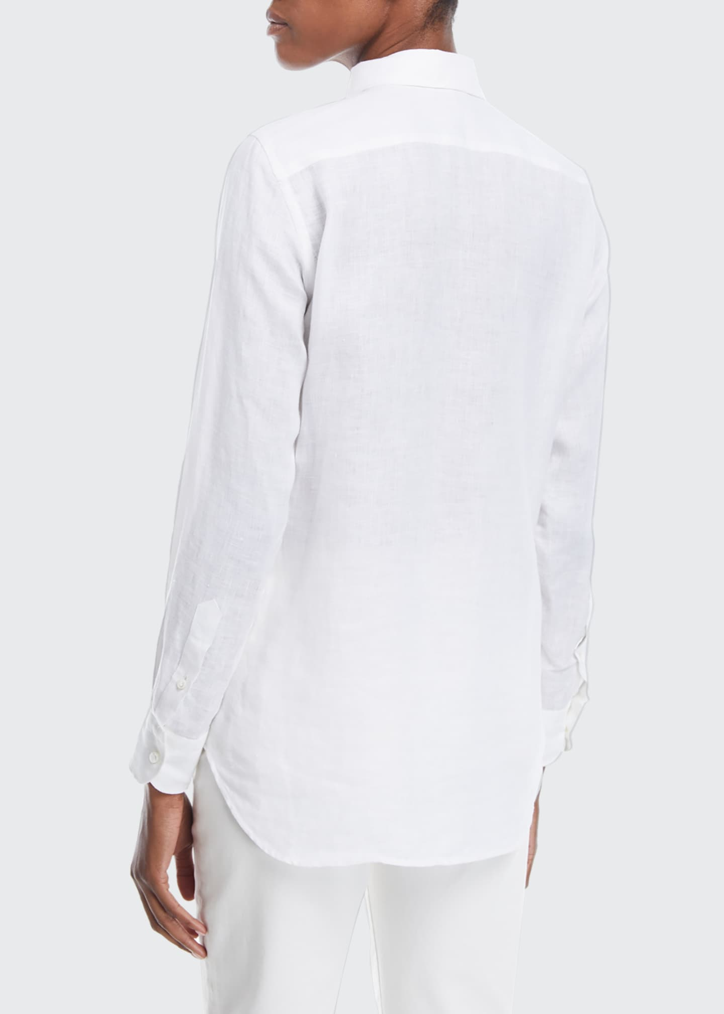 Image 2 of 2: Kara Solaire Delave Linen Shirt