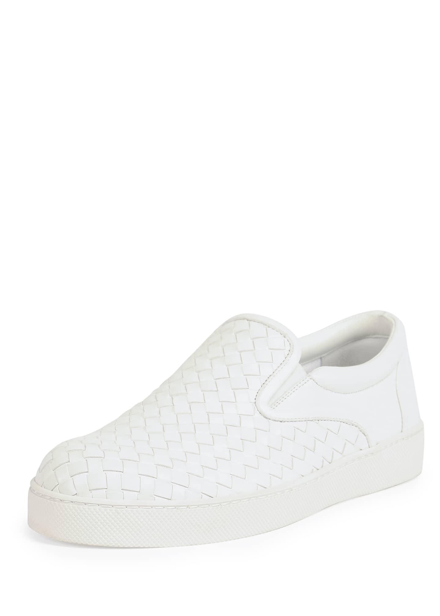 Bottega Veneta Woven Leather Slip-On Sneaker