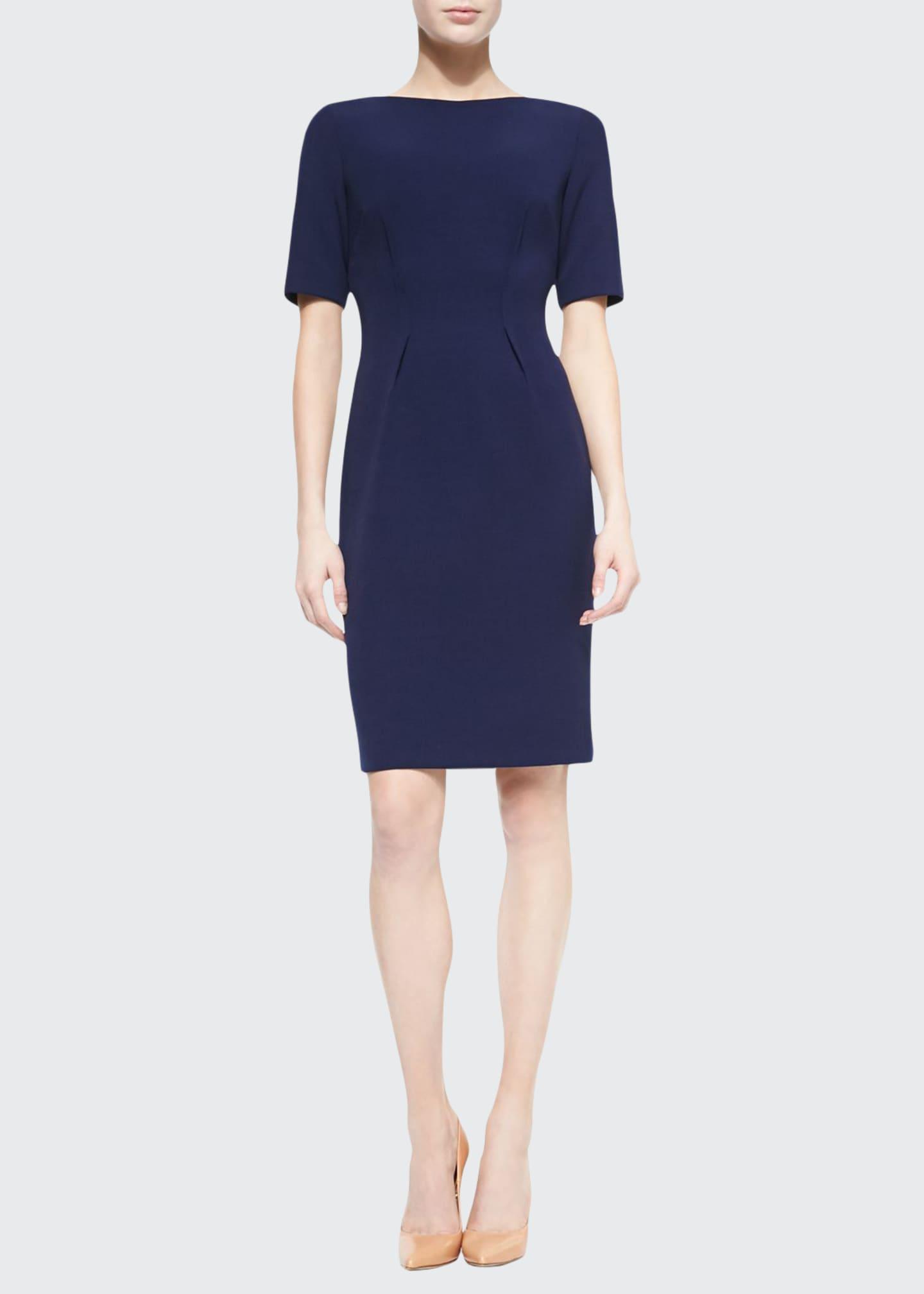 Lela Rose Claire Boat-Neck Dress