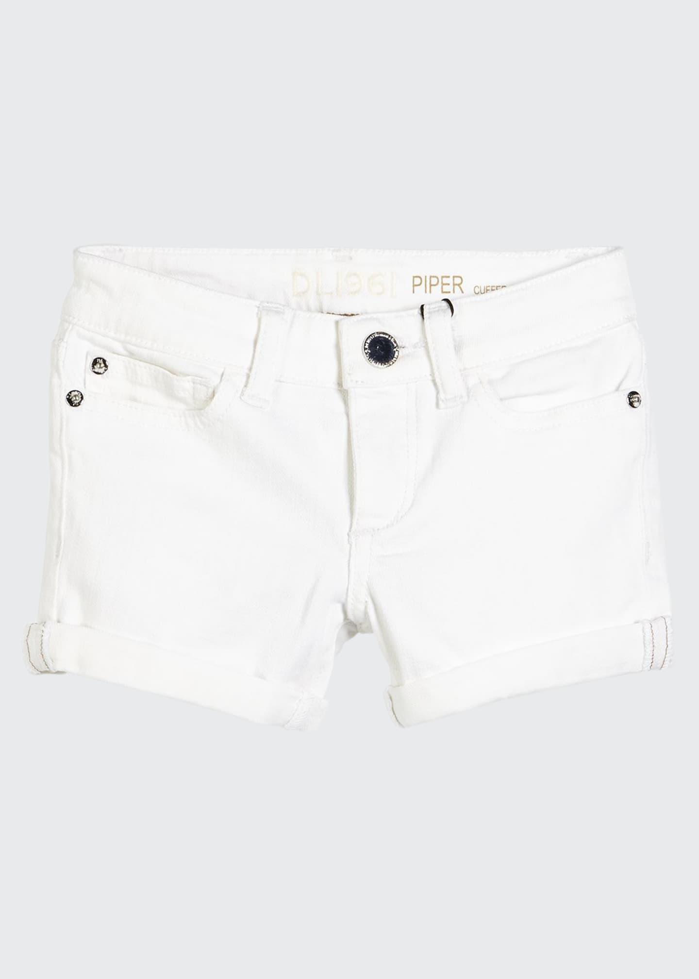 DL1961 Premium Denim Girls' Piper Cuffed Denim Shorts,