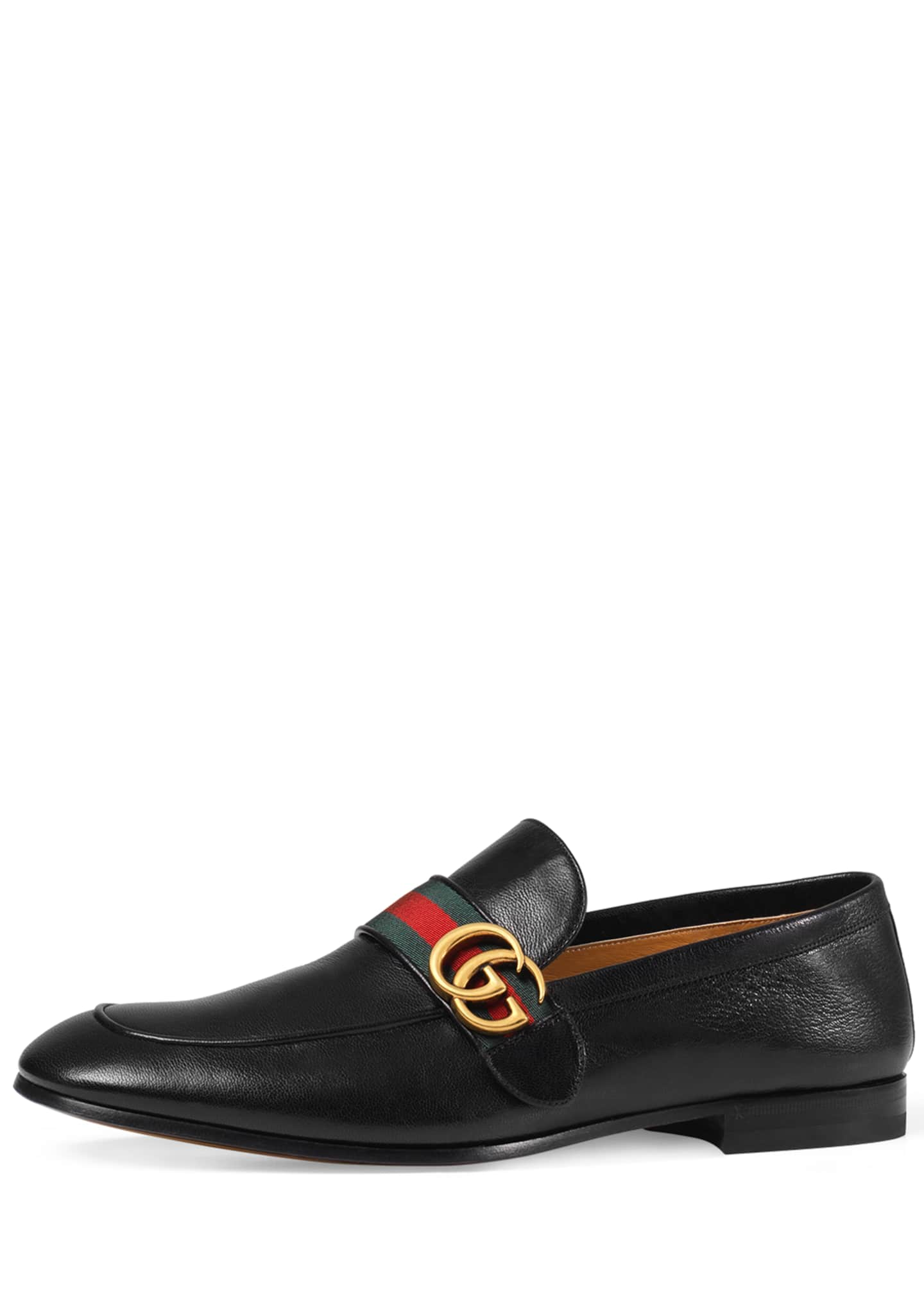Image 1 of 4: Donnie Web Leather Loafer