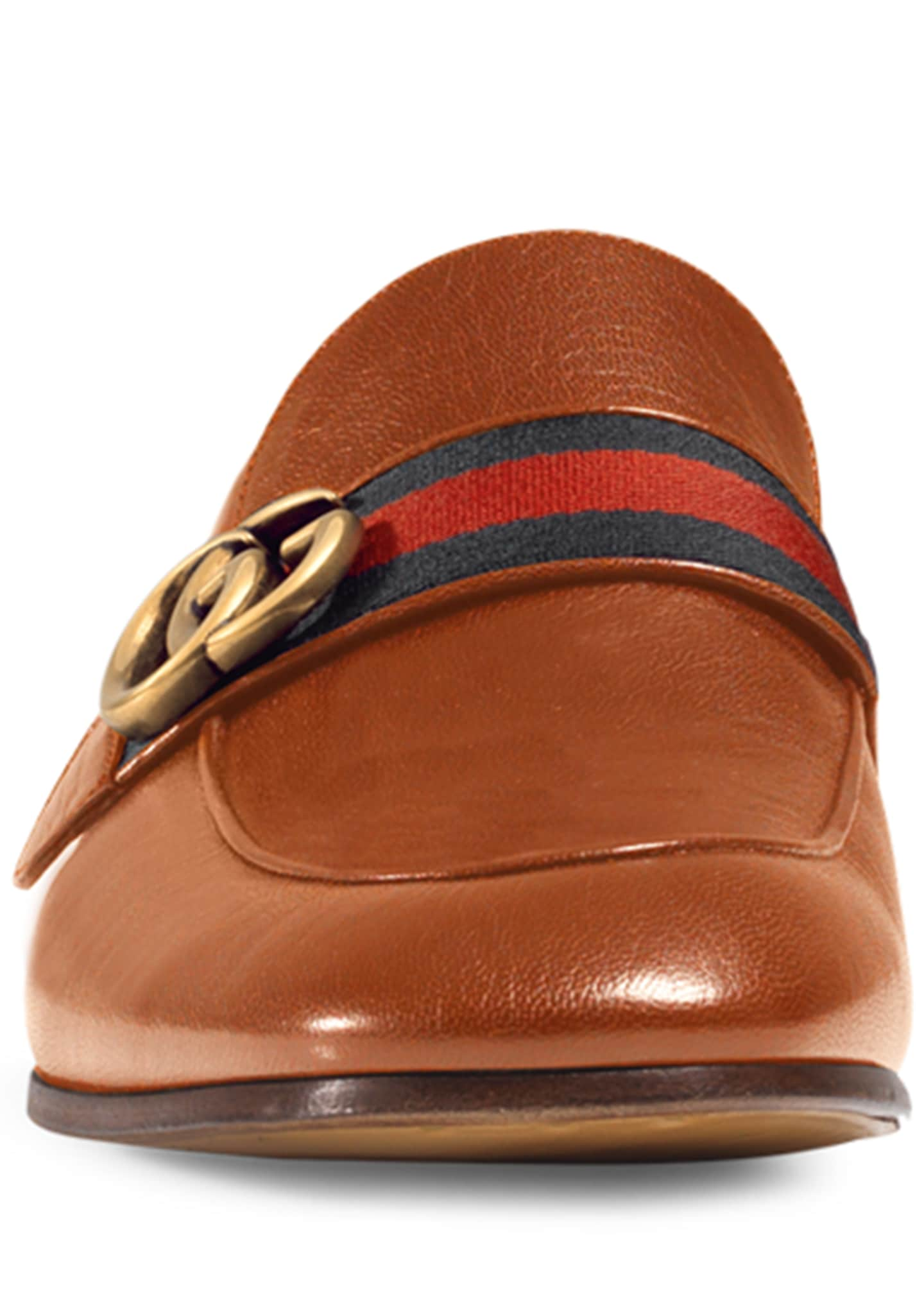 Image 2 of 4: Donnie Web Leather Loafer