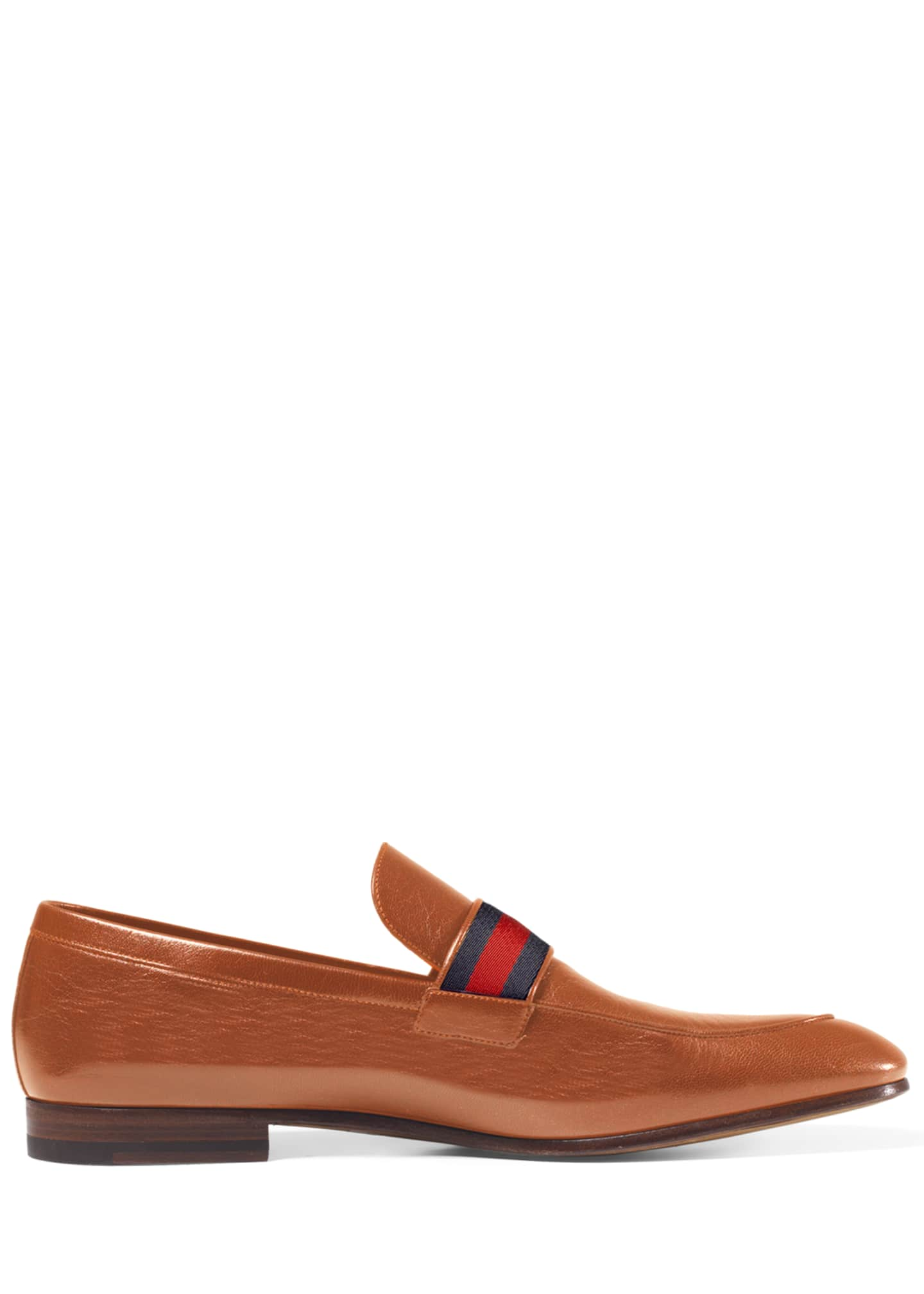 Image 3 of 4: Donnie Web Leather Loafer
