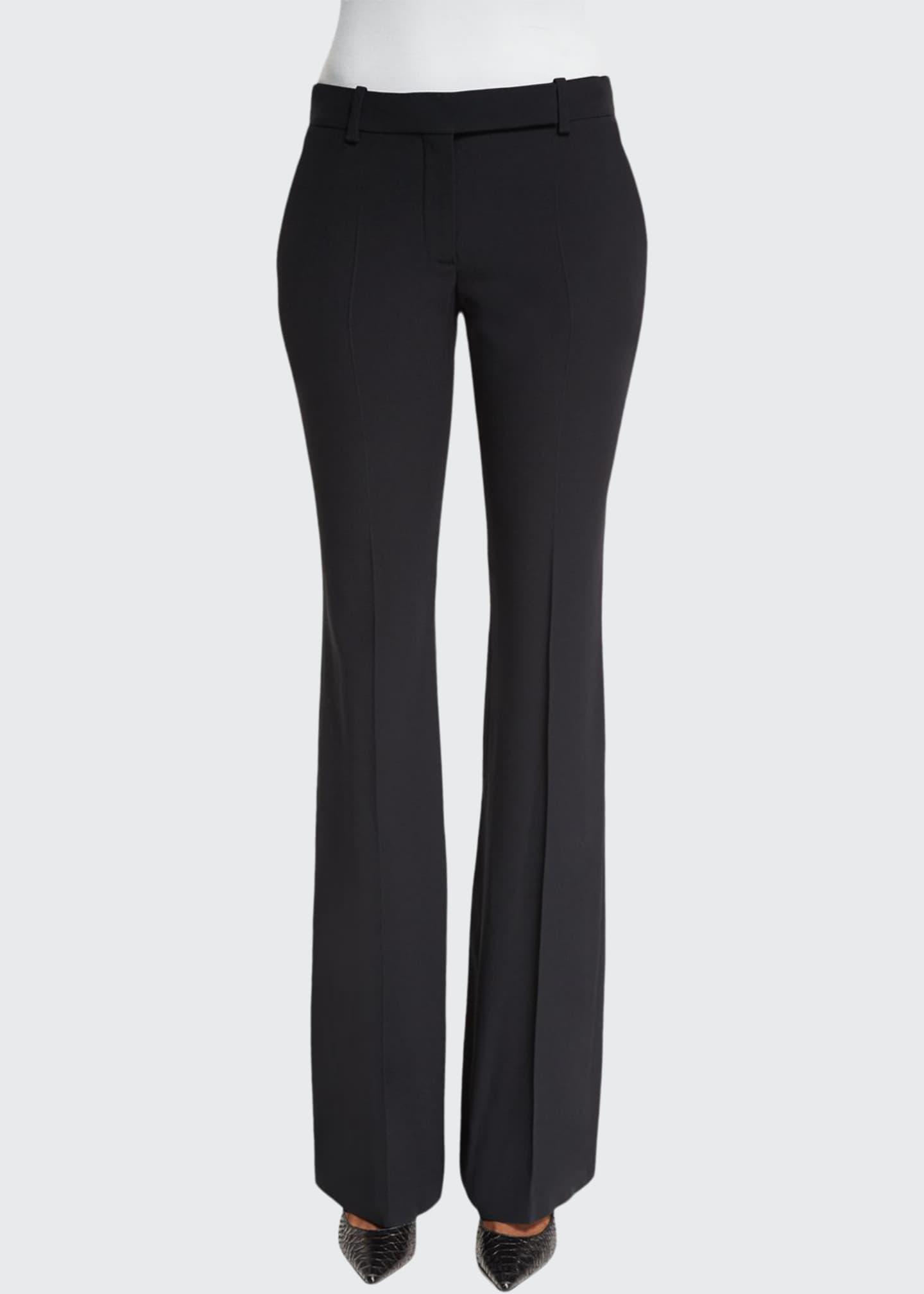 Alexander McQueen Classic Cropped Pants, Black