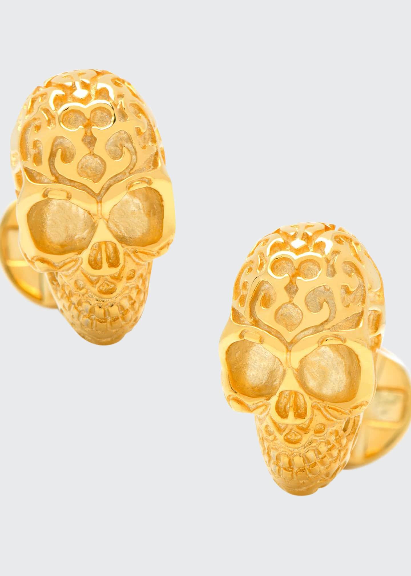Cufflinks Inc. Vermeil Fatale Skull Cuff Links