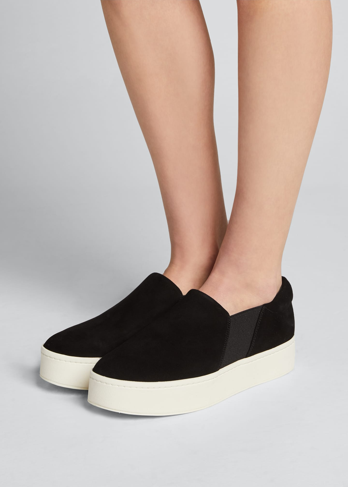 Image 2 of 3: Warren Suede Platform Skate Sneakers