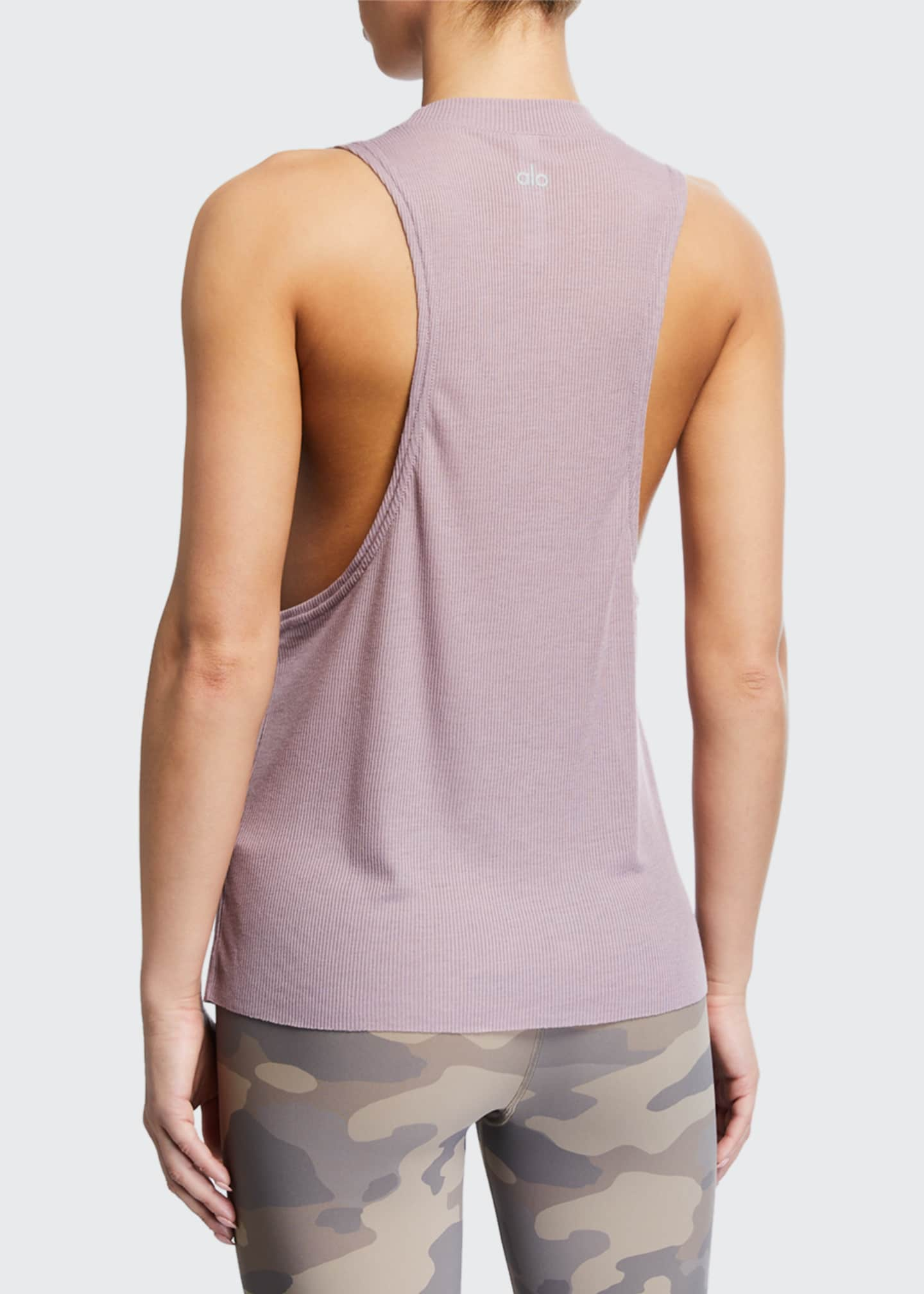 Image 2 of 2: Heat Wave Sleeveless Ribbed Sport Tank