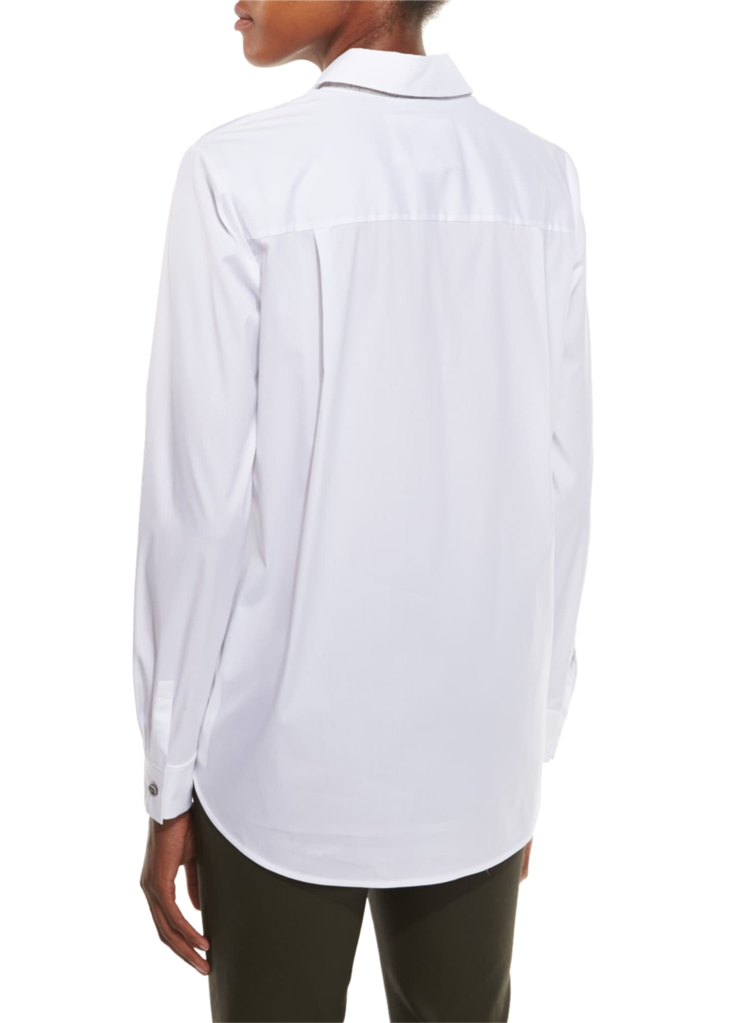 Image 2 of 2: Stretch Cotton Brody Shirt, White