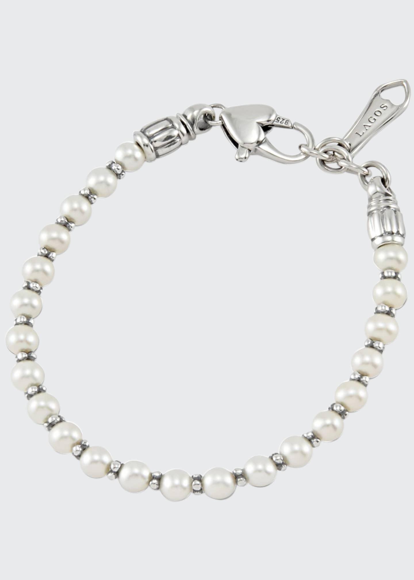 LAGOS Kinder Sterling Silver Pearl Bracelet