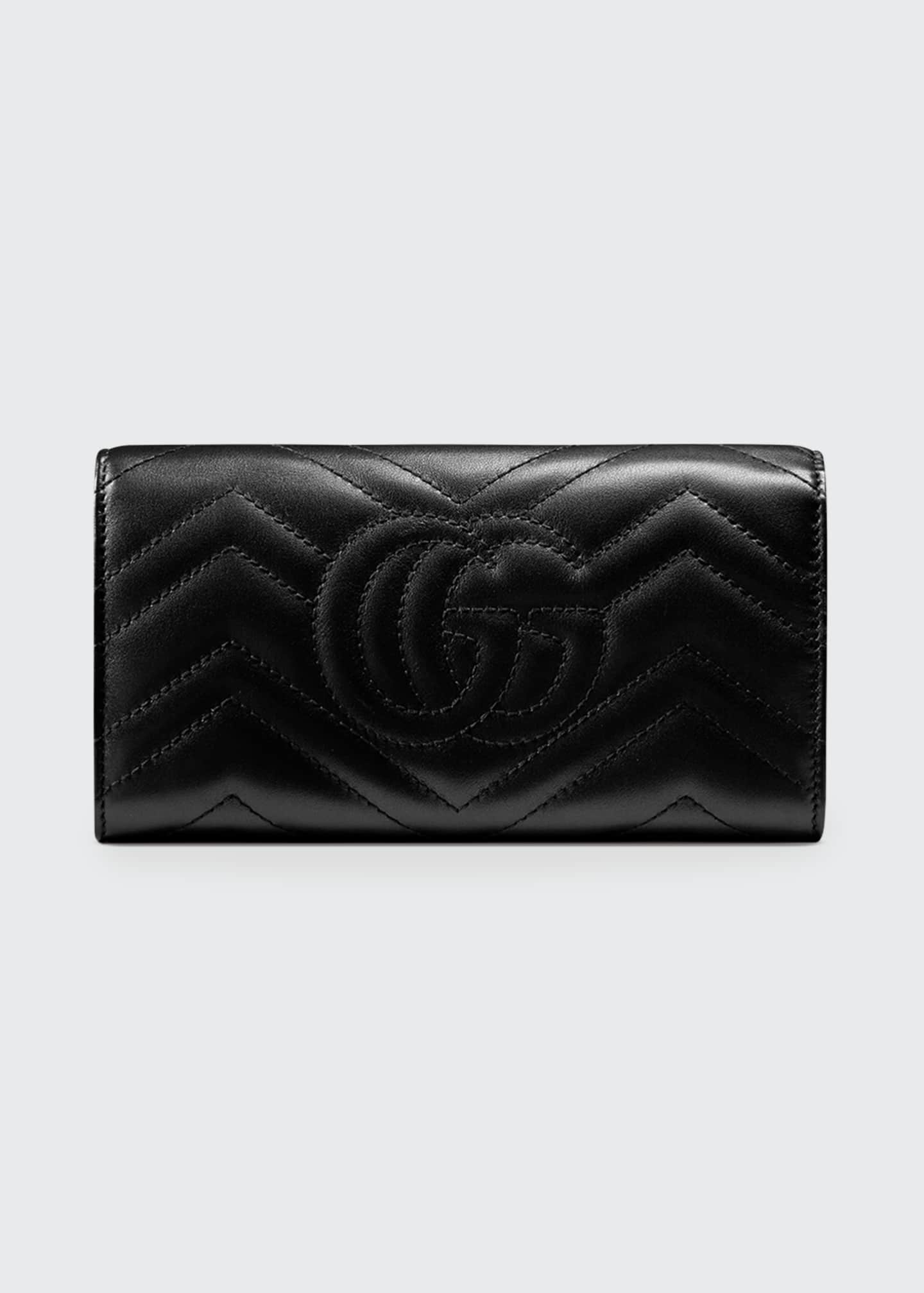 Image 2 of 3: GG Marmont Medium Quilted Flap Wallet