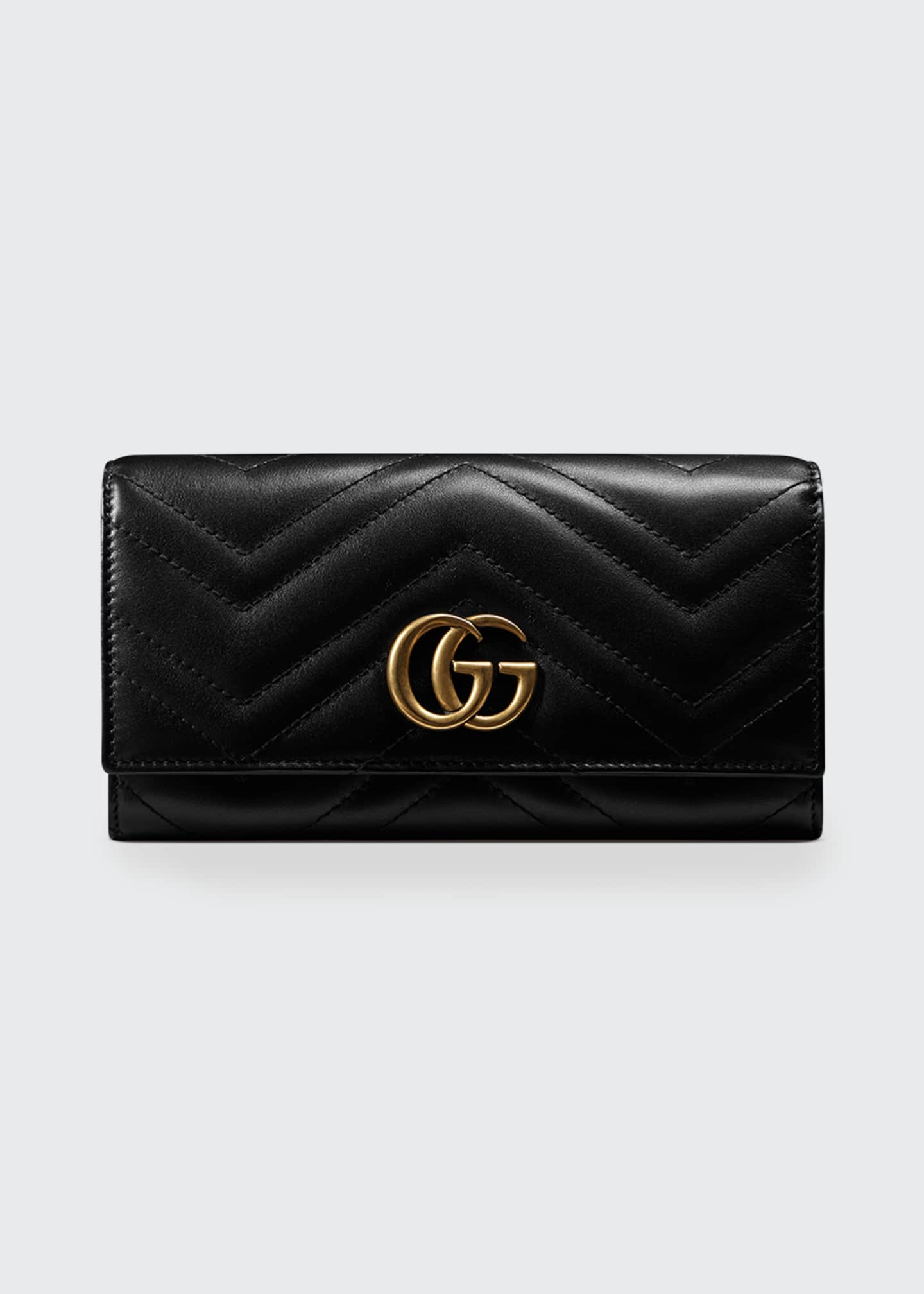 Image 1 of 3: GG Marmont Medium Quilted Flap Wallet