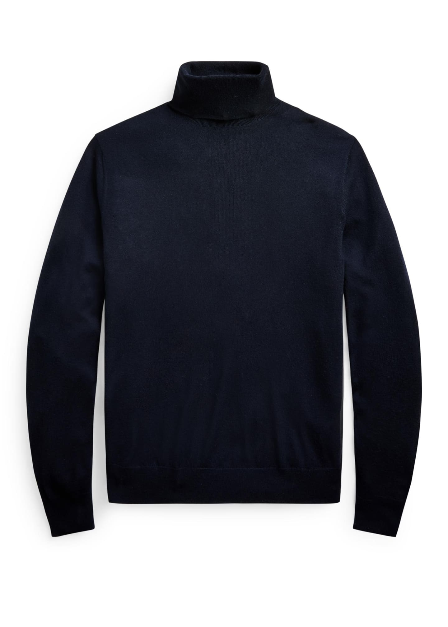 Image 3 of 3: Men's Solid Cashmere Turtleneck Sweater
