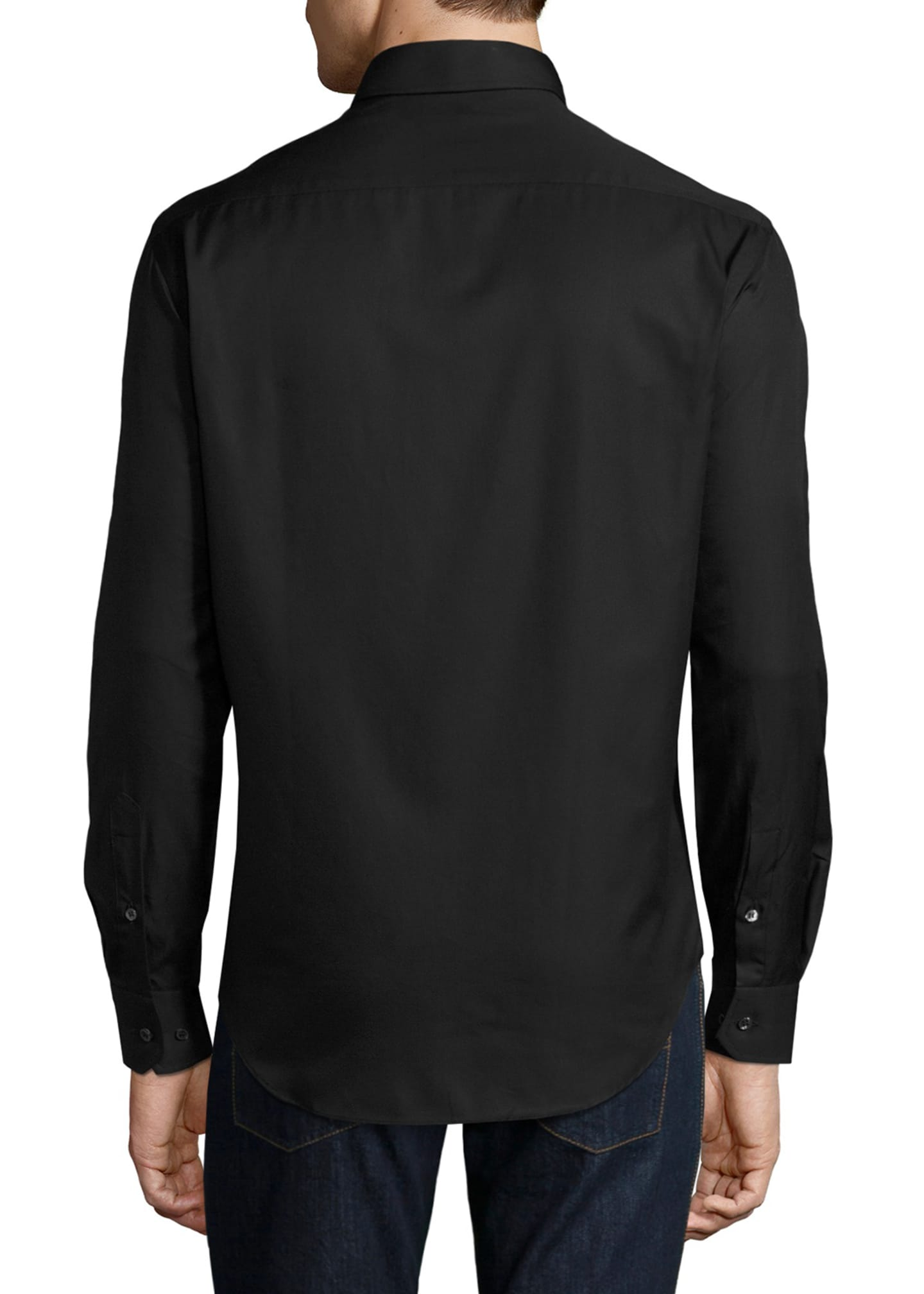 Image 2 of 2: Basic Sport Shirt, Black