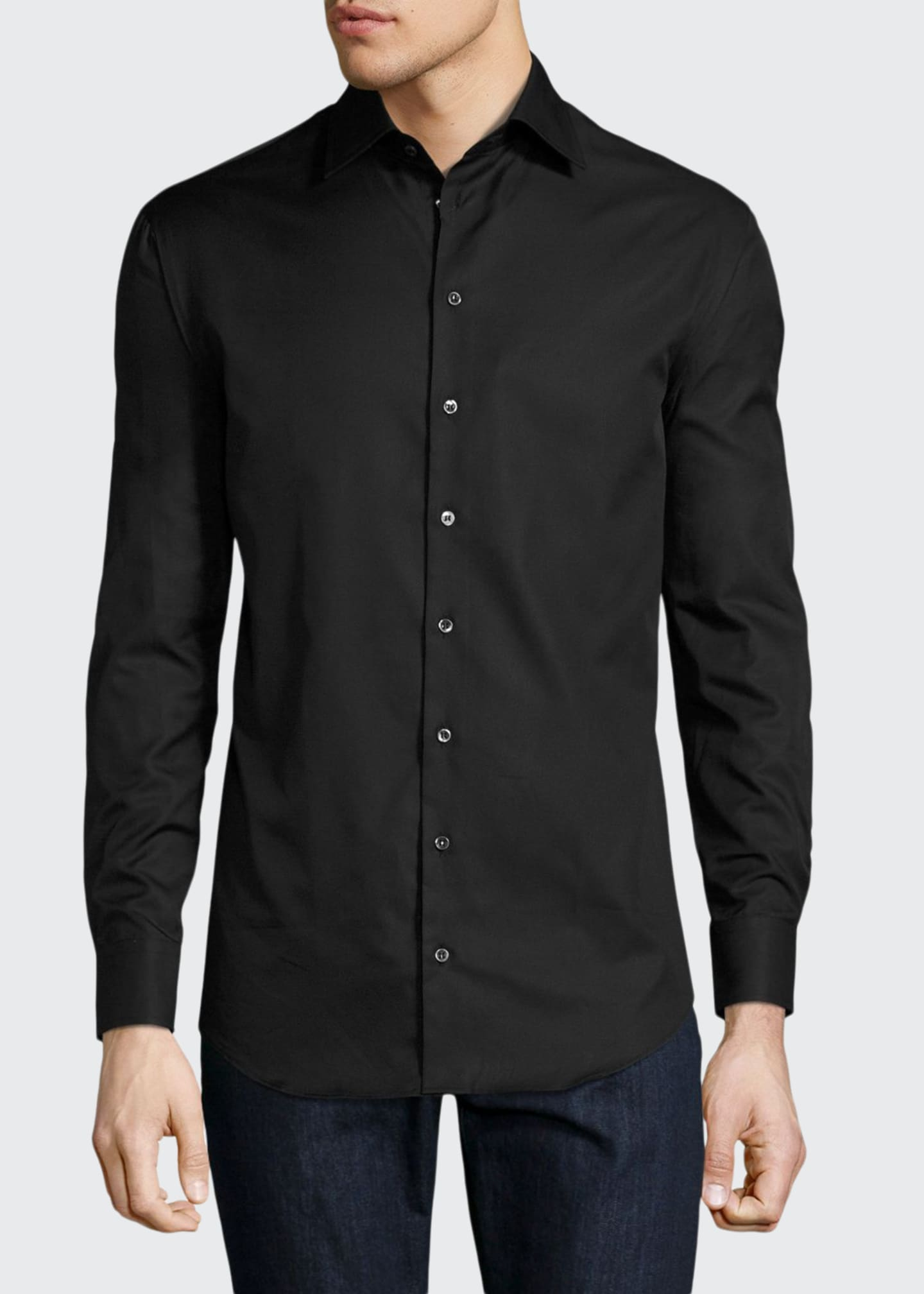 Image 1 of 2: Basic Sport Shirt, Black