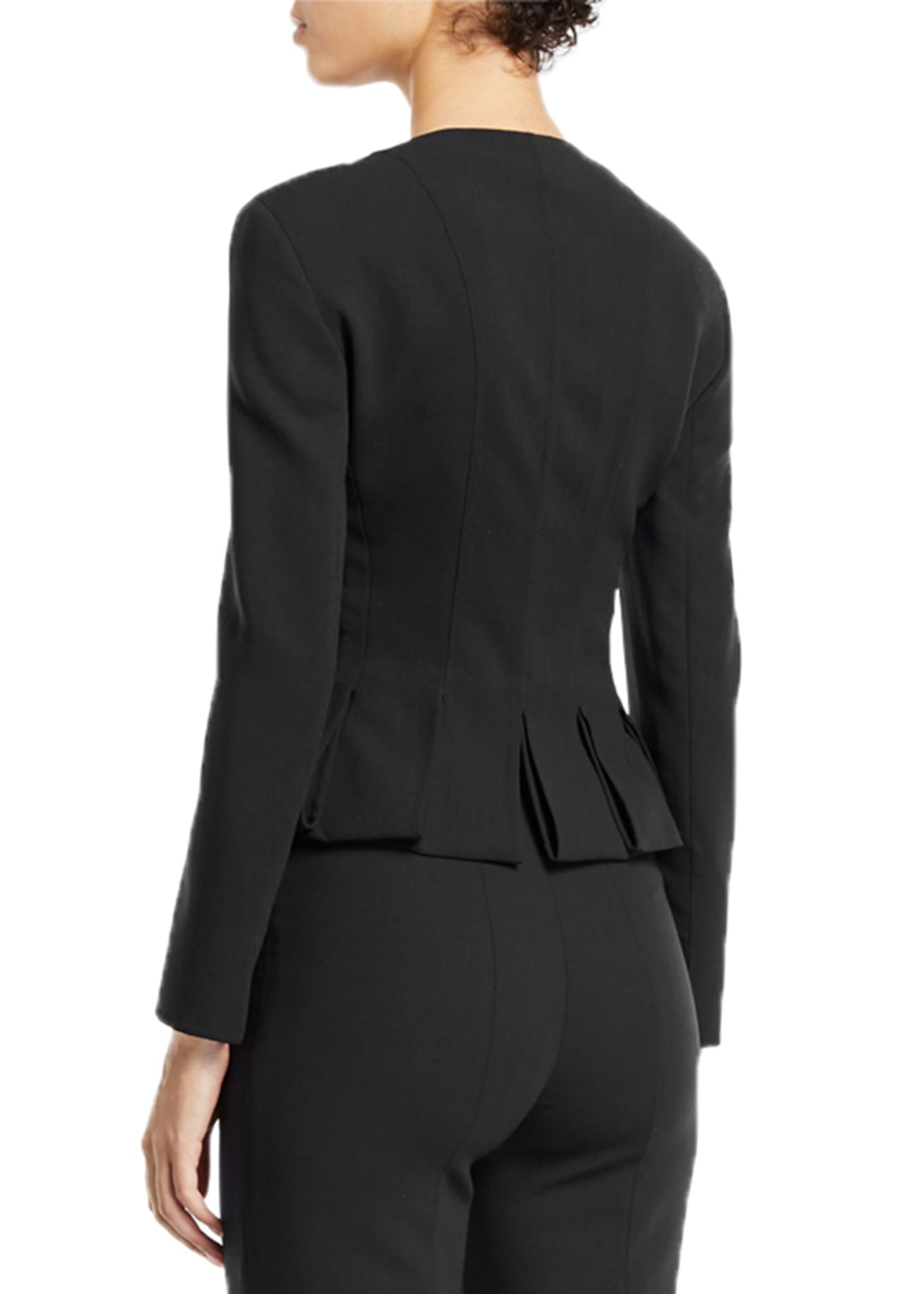 Image 2 of 3: Ilaria Peplum Zip-Front Jacket