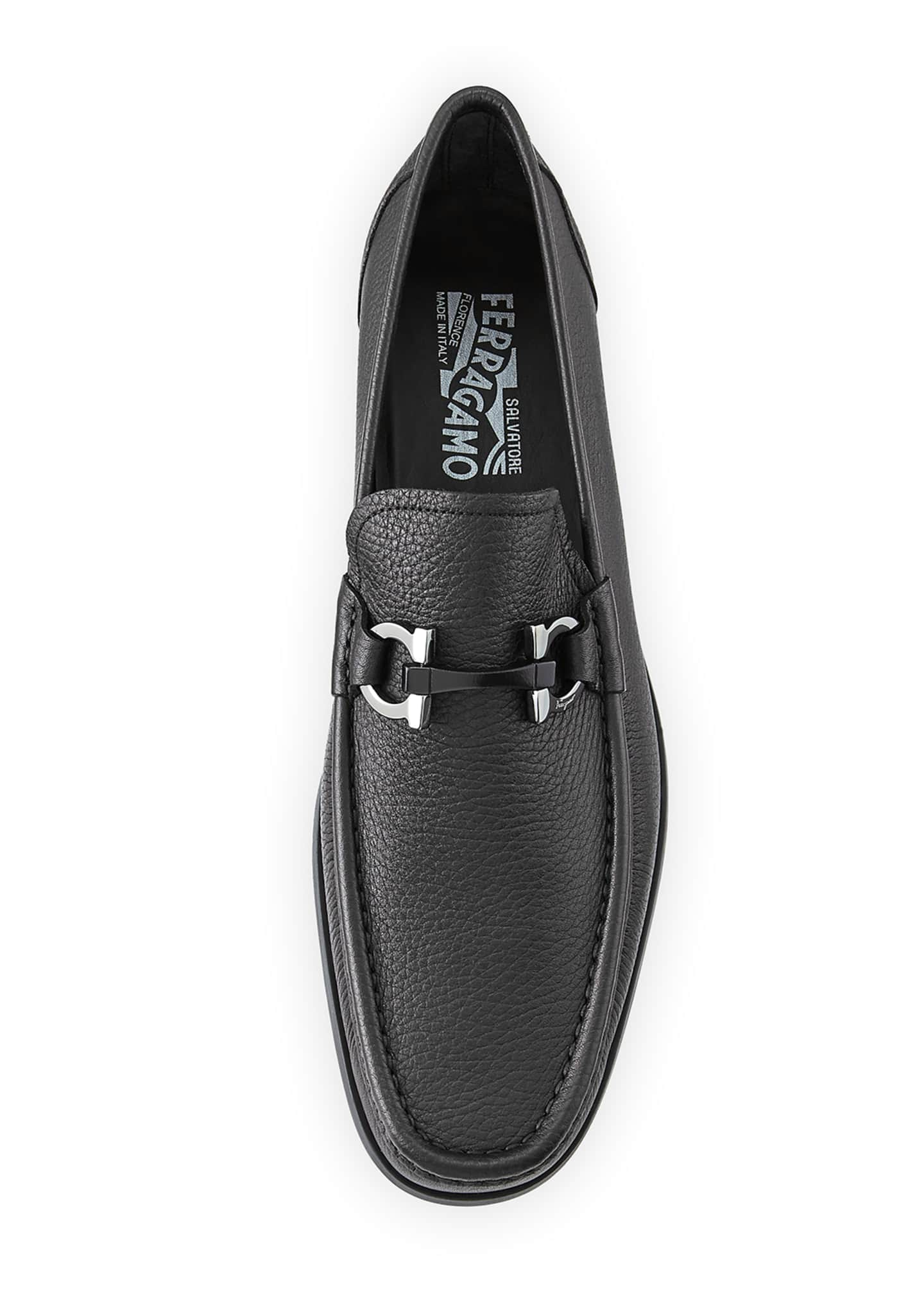 Image 2 of 5: Men's Grained Calf Leather Bit Loafer