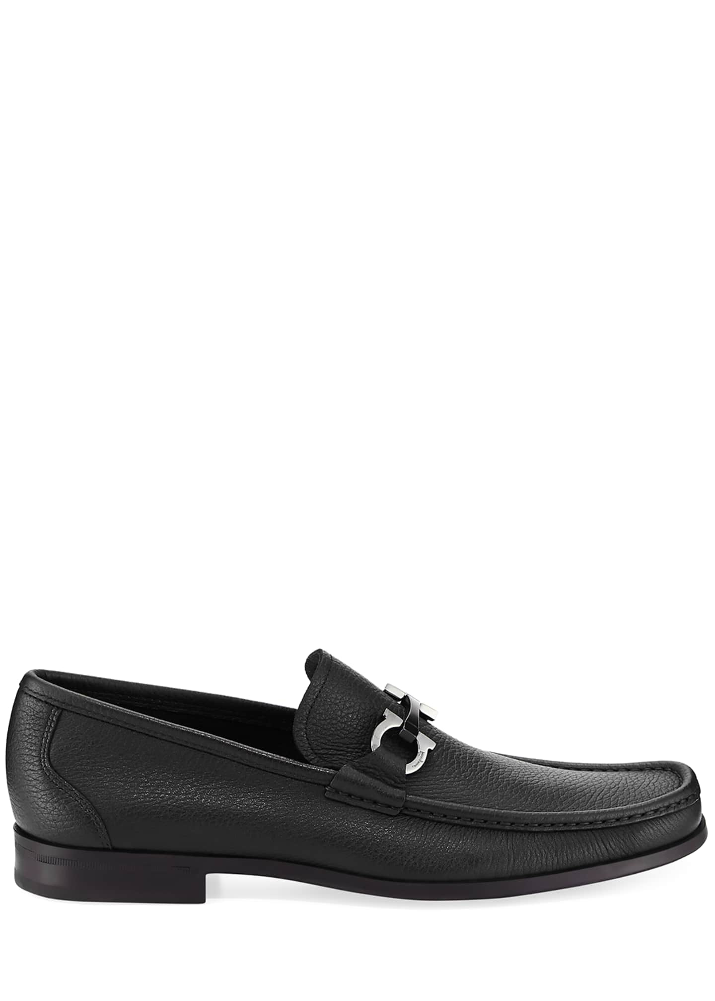 Image 3 of 5: Men's Grained Calf Leather Bit Loafer