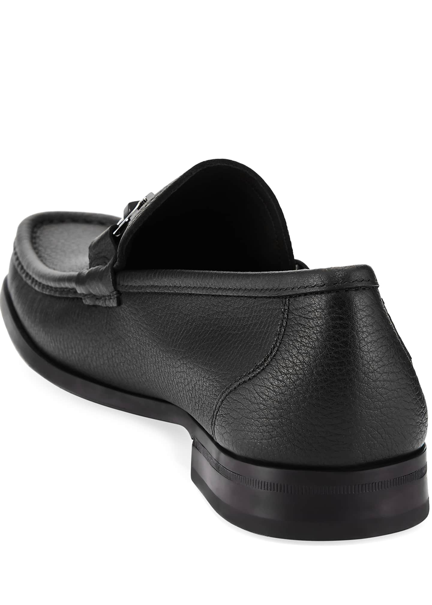 Image 4 of 5: Men's Grained Calf Leather Bit Loafer