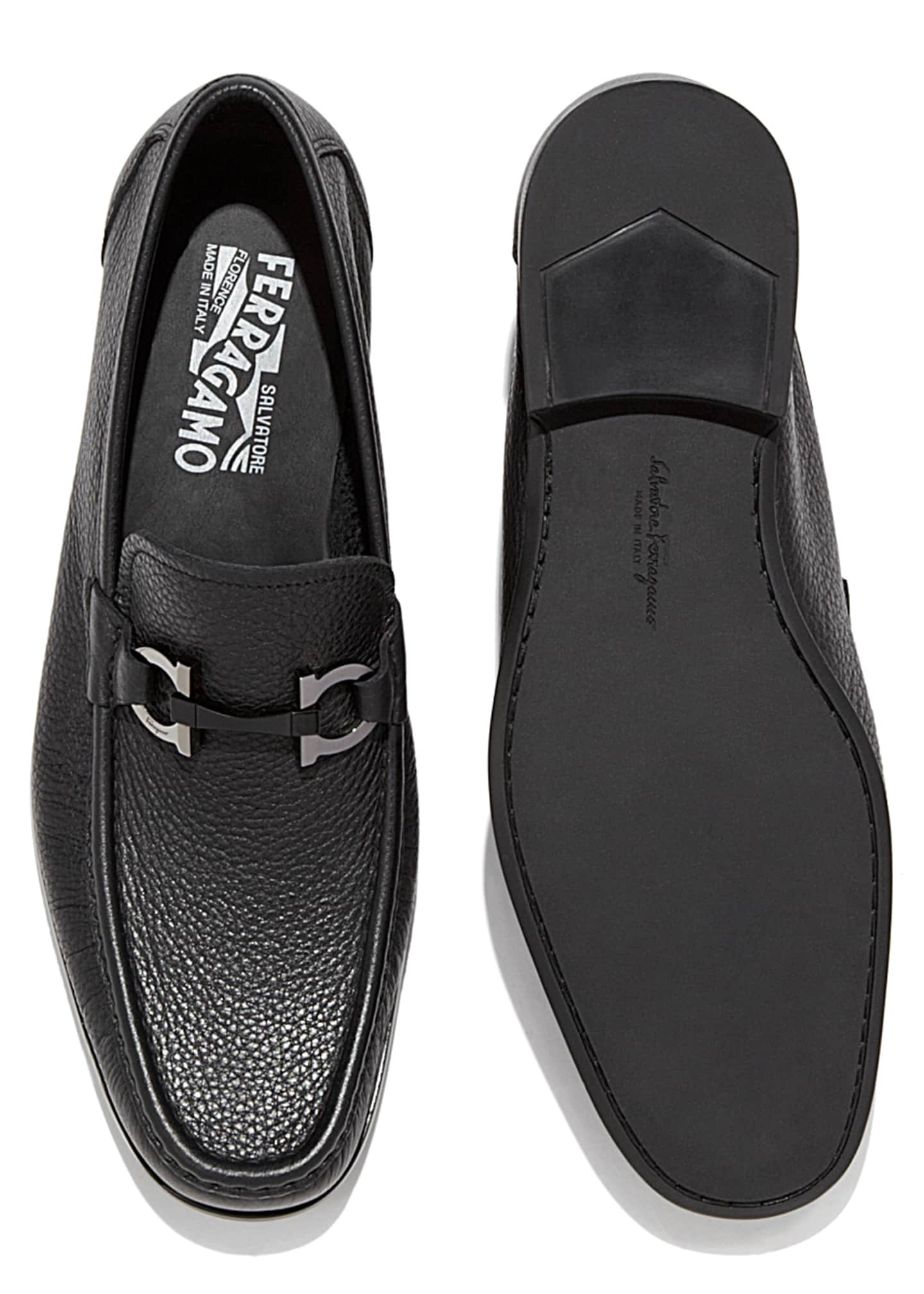 Image 5 of 5: Men's Grained Calf Leather Bit Loafer