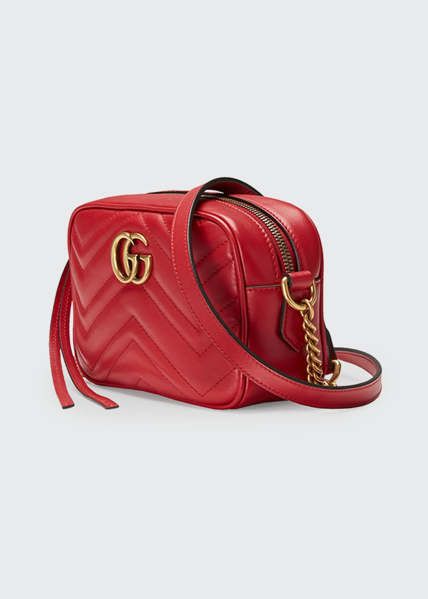 Image 3 of 4: GG Marmont Mini Matelasse Camera Bag