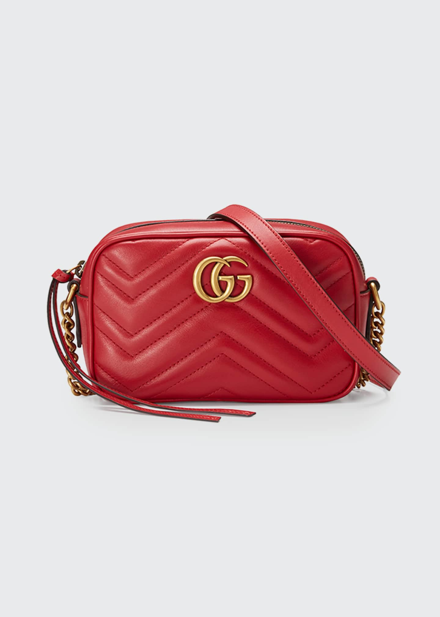 Image 1 of 4: GG Marmont Mini Matelasse Camera Bag
