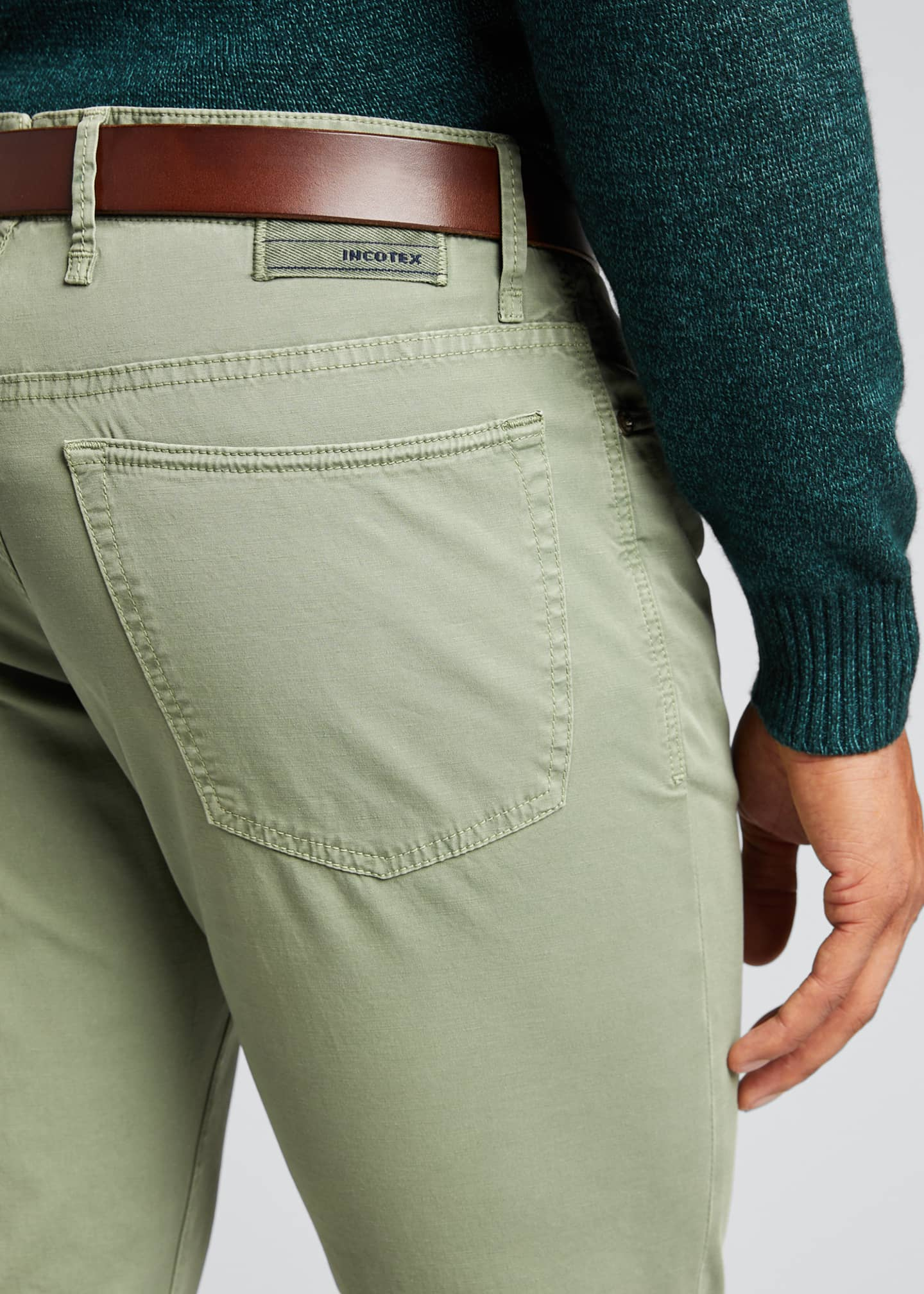 Image 4 of 5: Ray Standard-Fit Five-Pocket Pants