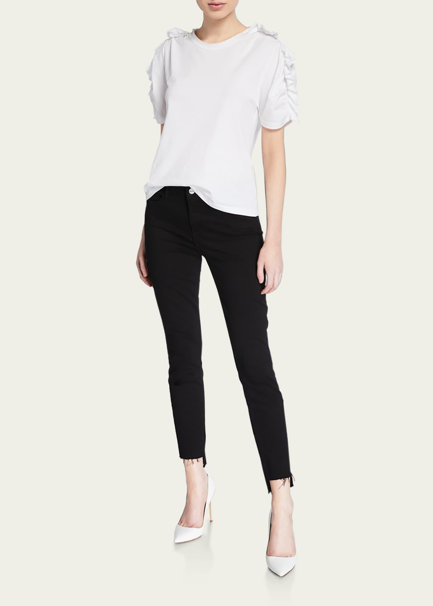 FRAME Le Skinny de Jeanne Raw Stagger-Hem Jeans