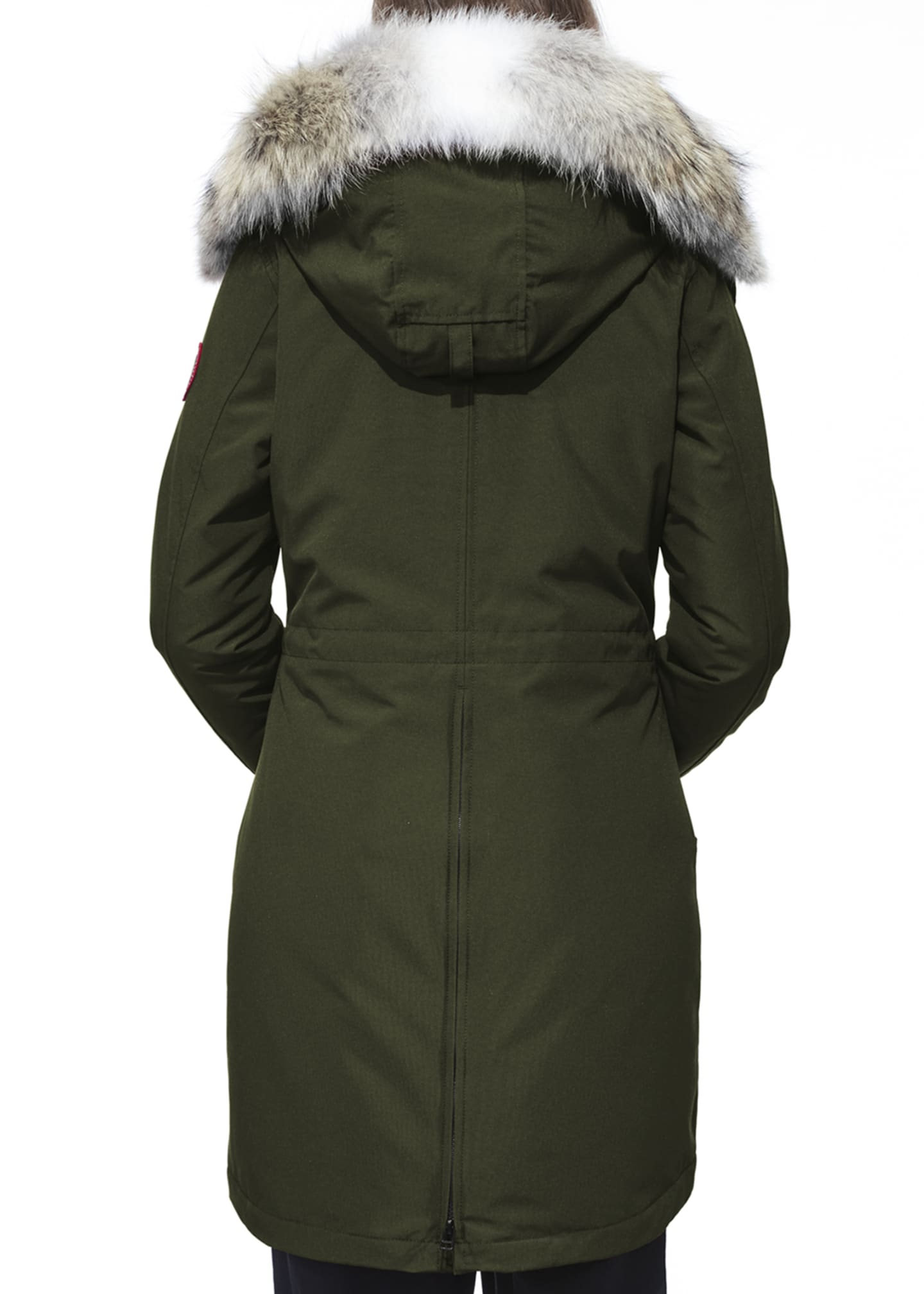 Image 3 of 5: Rossclair Fur-Trim Hooded Down Parka